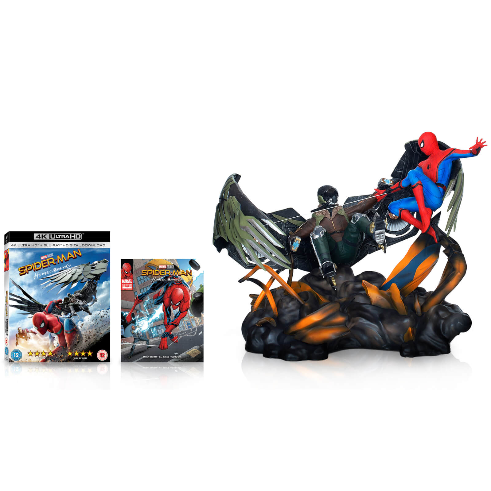 Spider-Man Homecoming - Édition Collector - 4K Ultra HD + Figurine + Comics