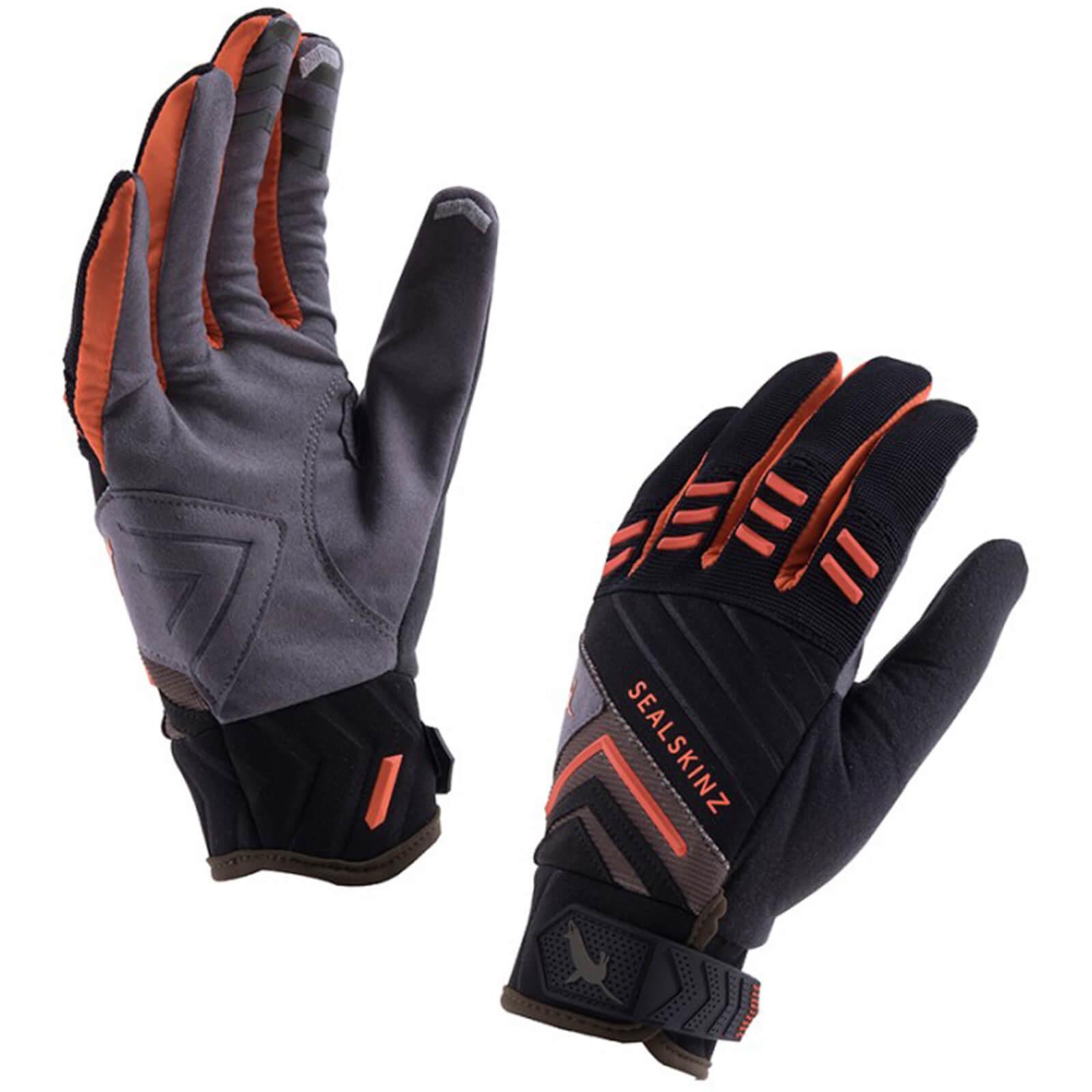 Sealskinz Dragon Eye Trail Gloves - Black/Green/Orange | Handsker