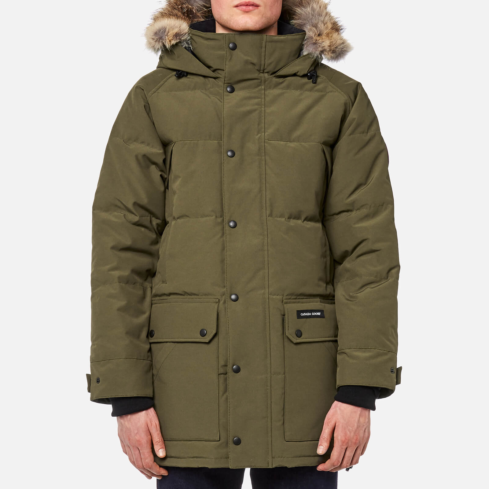 brand new ac258 f09e8 Canada Goose Men's Emory Parka Jacket - Military Green