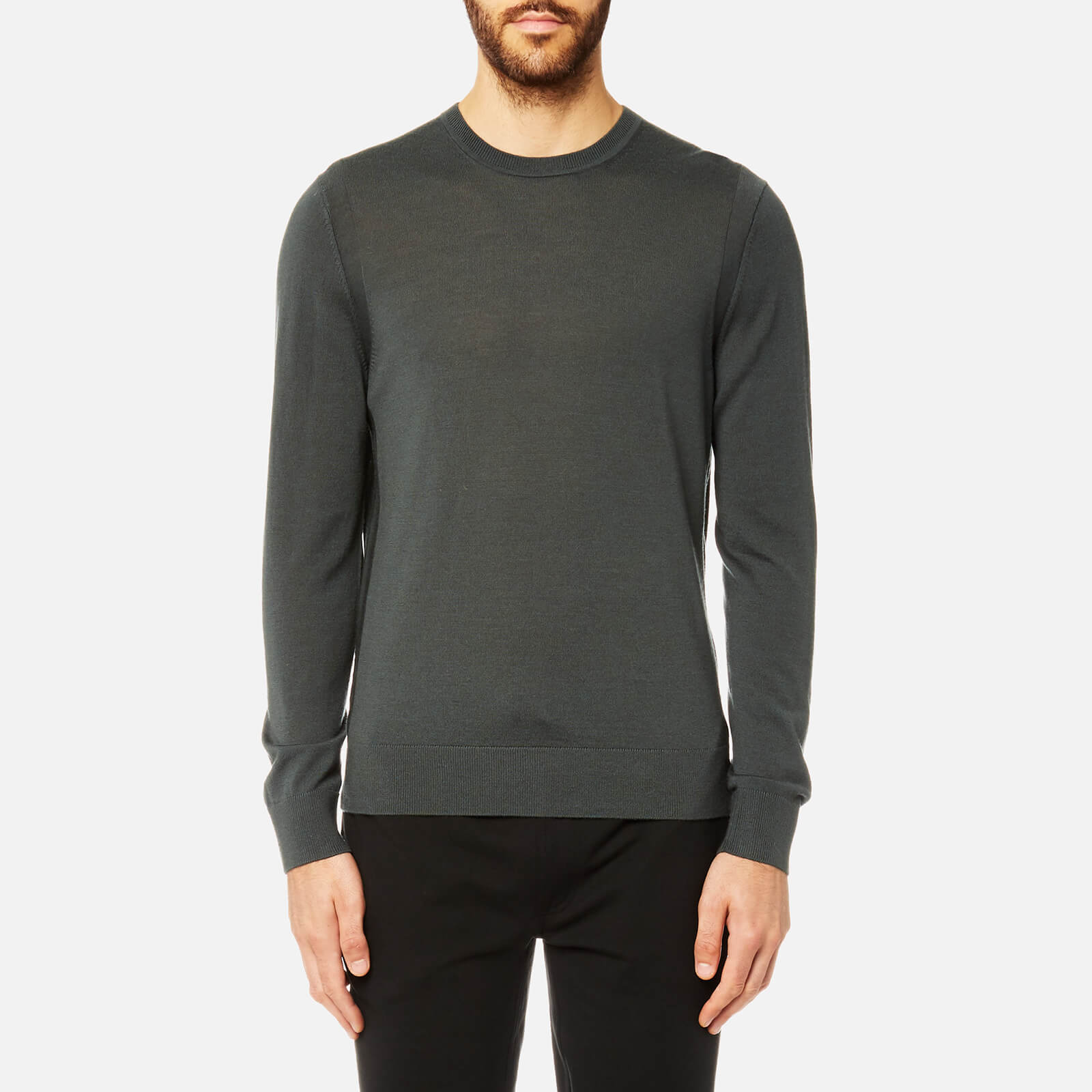 e5788b11537cd7 Michael Kors Men's Merino 14GG Crew Neck Long Sleeve Sweatshirt - Cedar  Green - Free UK Delivery over £50