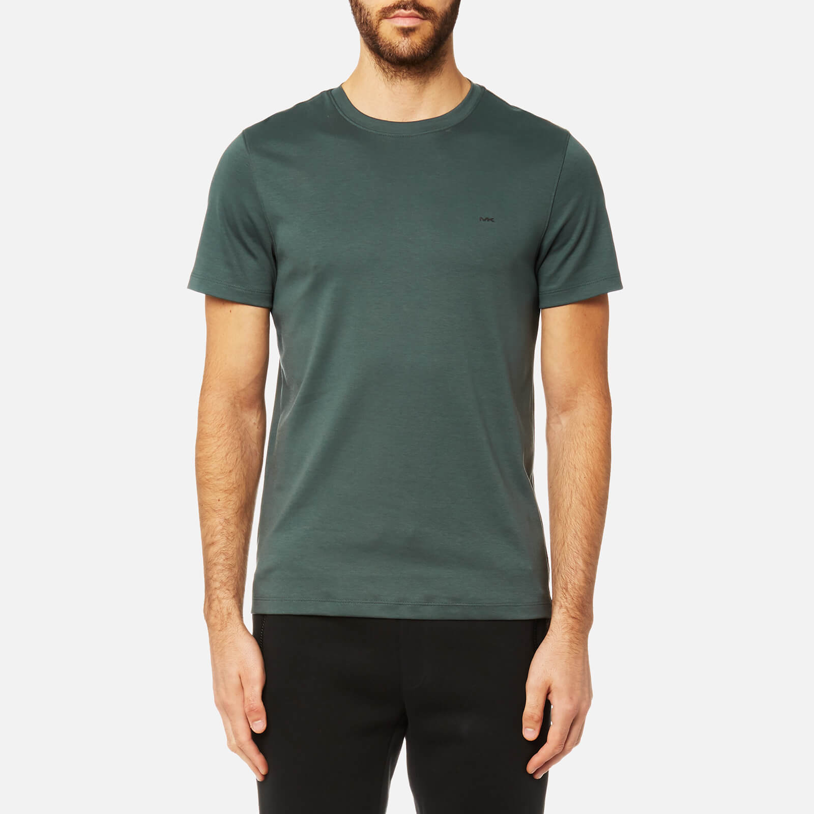 4bdcb13b4d797a Michael Kors Men's Liquid Jersey Short Sleeve Crew Neck T-Shirt - Cedar  Green - Free UK Delivery over £50