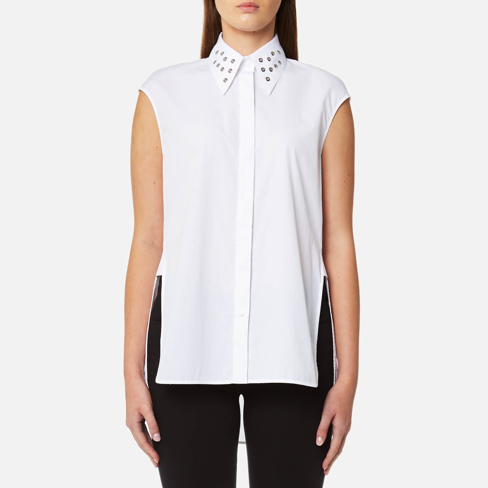 be0cab67 Helmut Lang Women's Eyelet Sleeveless Shirt - White - Free UK Delivery over  £50