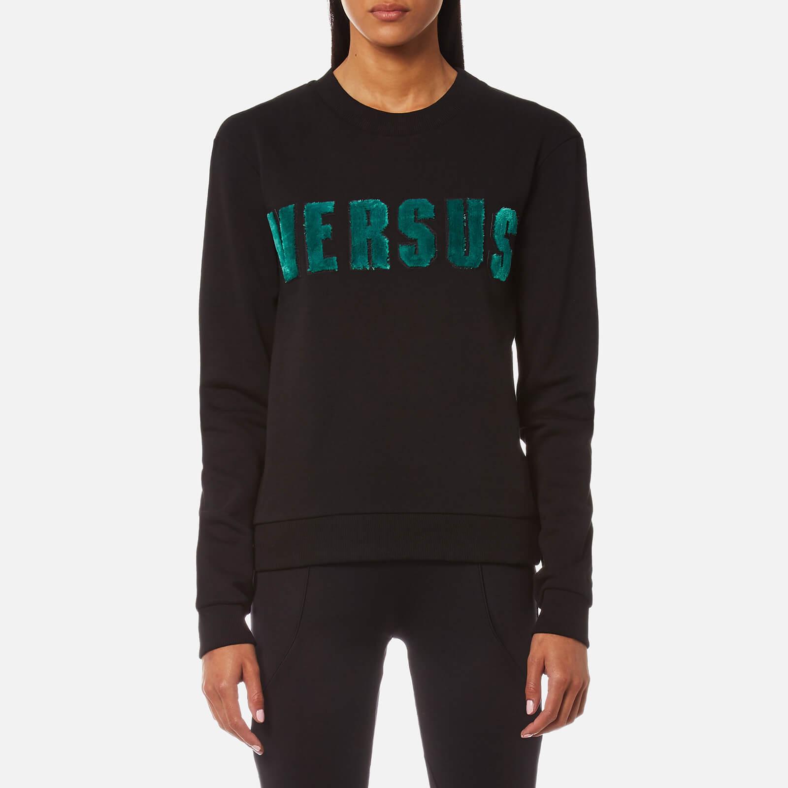 99780559 Versus Versace Women's Versus Textured Logo Sweatshirt - Black