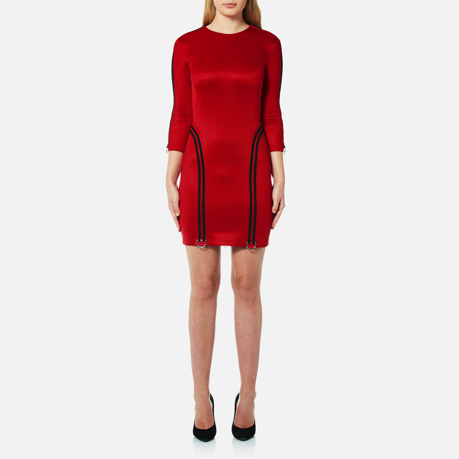 a72958a8c6 Versus Versace Women's Long Sleeve Sporty Dress with Zip Back - Red