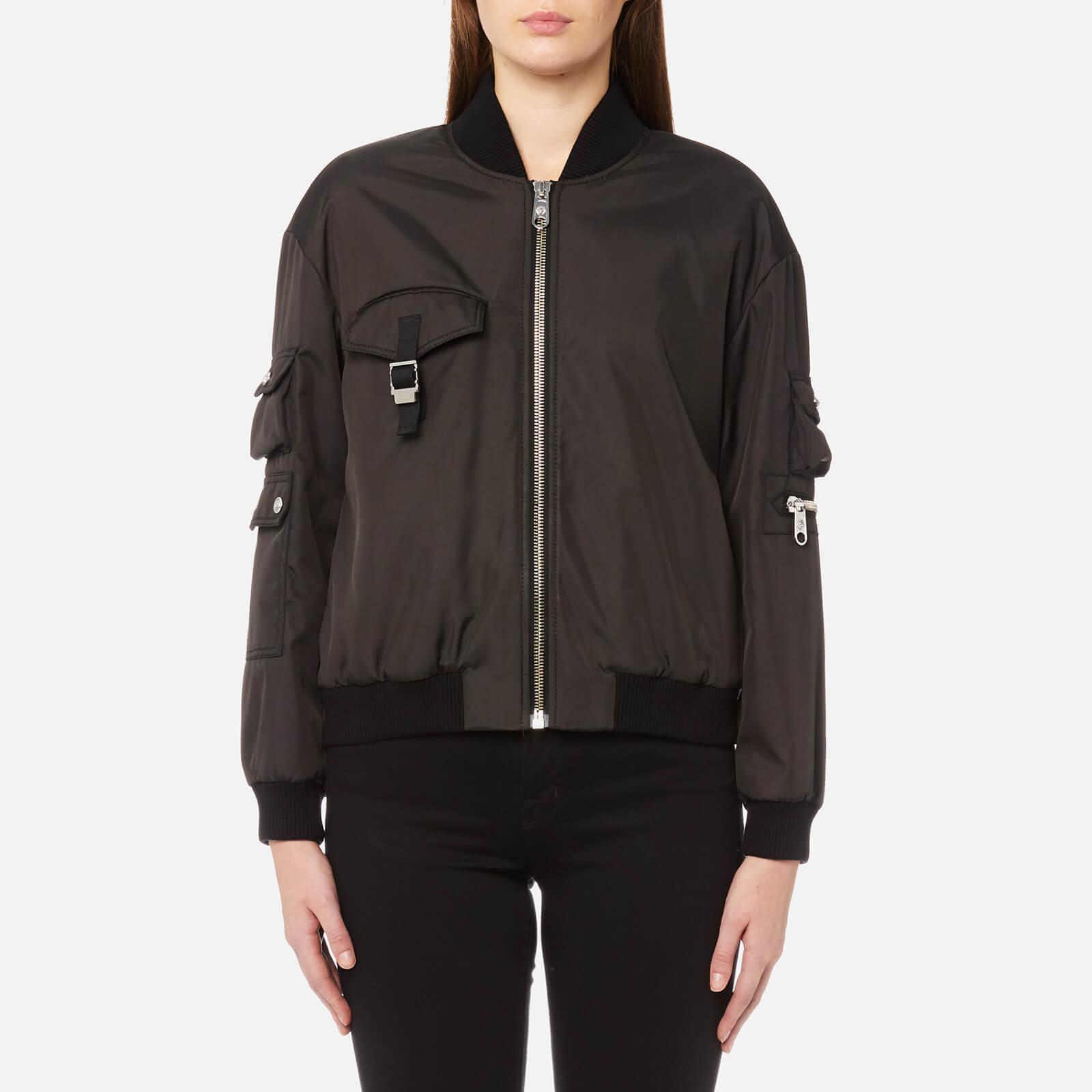 c340dd773037 Versus Versace Women s Bomber Jacket - Black - Free UK Delivery over £50
