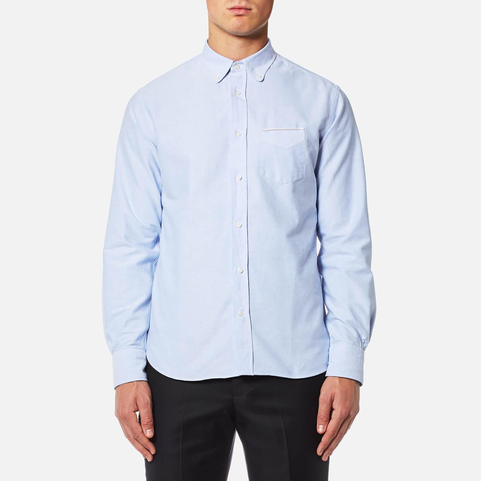 b234150728e2c Officine Générale Men s Button Down Oxford Shirt - Sky - Free UK Delivery  over £50