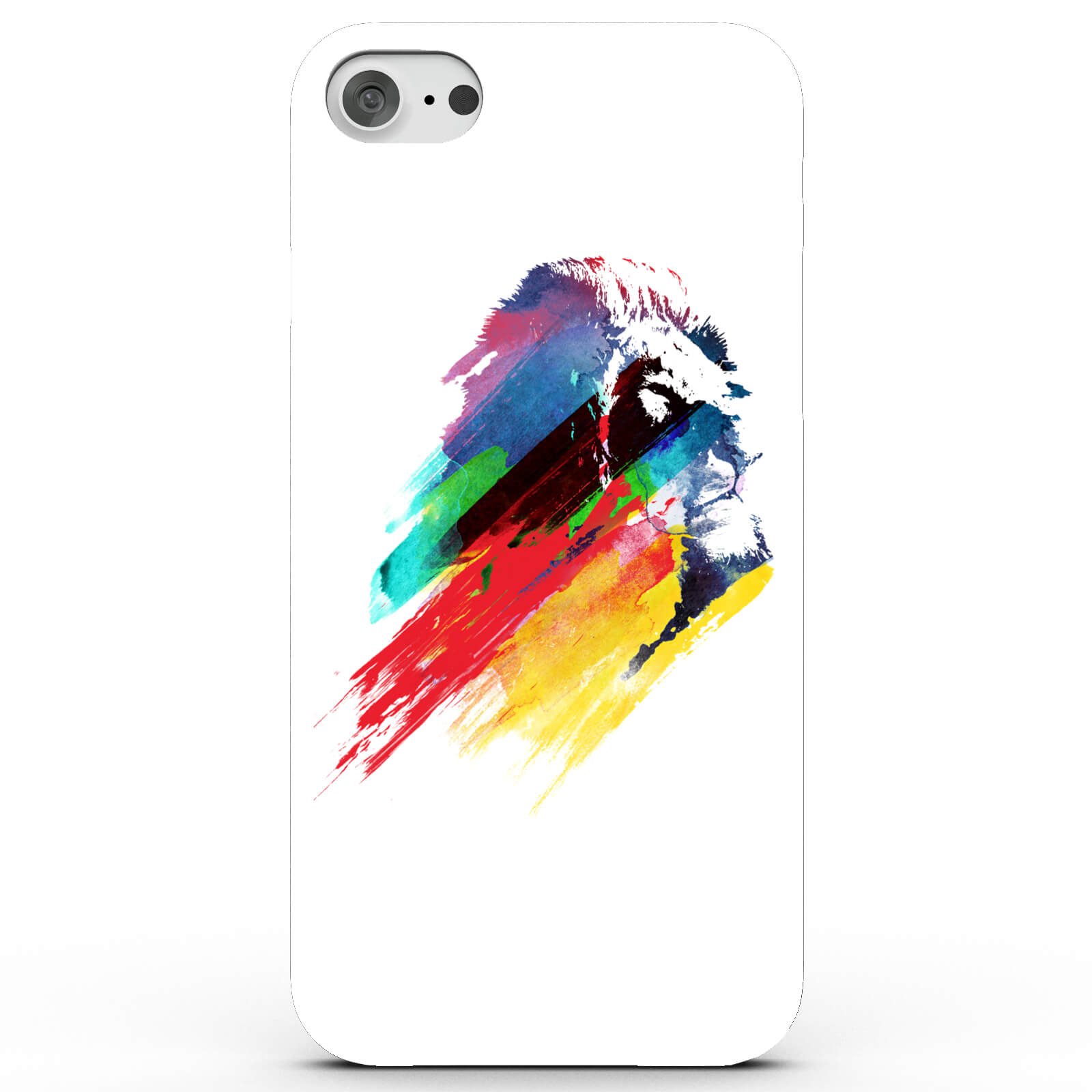 Colourful Hero Lion Phone Case for iPhone & Android - White