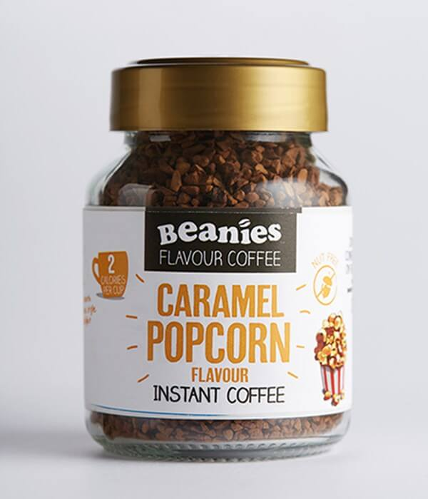 494cab9dc00 Home  Beanies Caramel Popcorn Flavour Instant Coffee. Offer