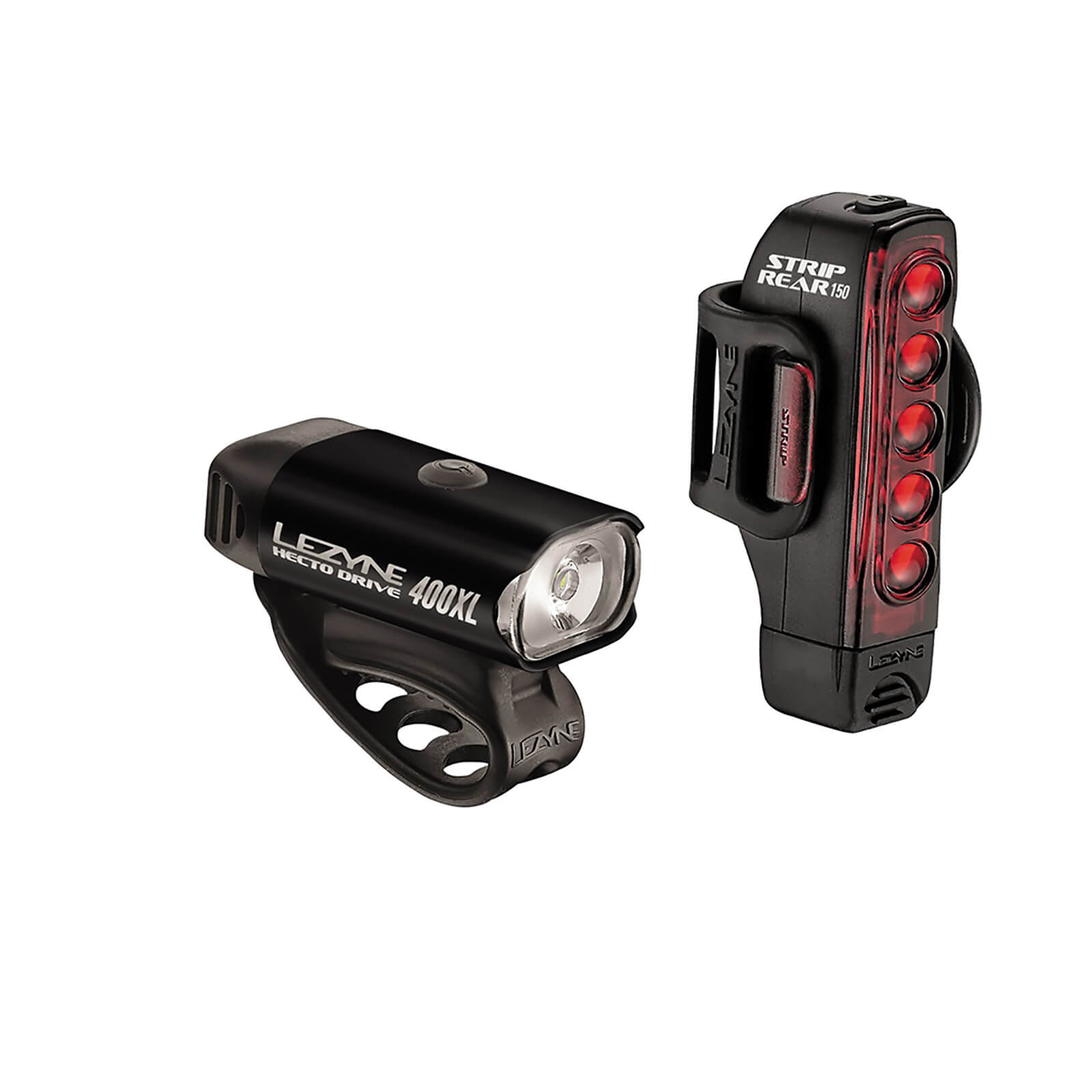 Lezyne Hecto 400/Strip 150 Lightset - Black