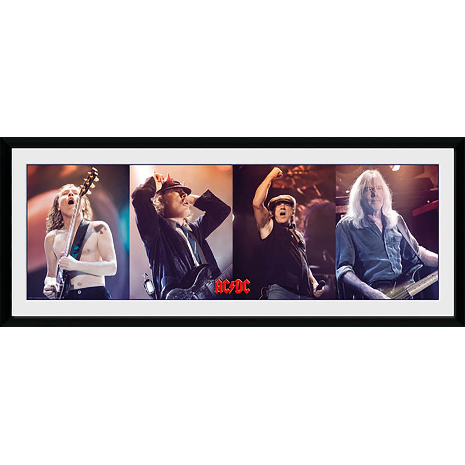 AC/DC Band - 30 x 12 Inches Framed Photograph