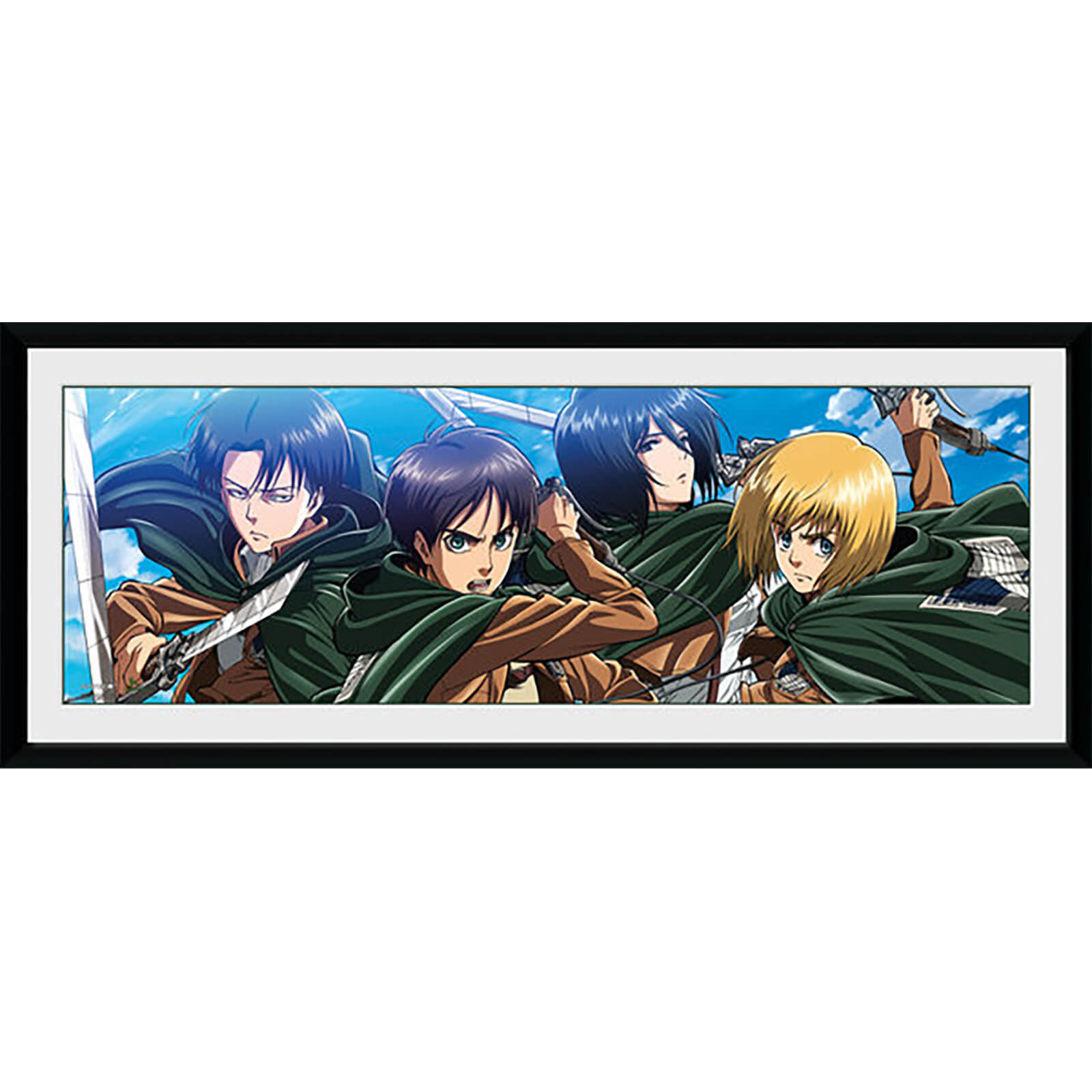 Attack on Titan Scout - 30 x 12 Inches Framed Photograph