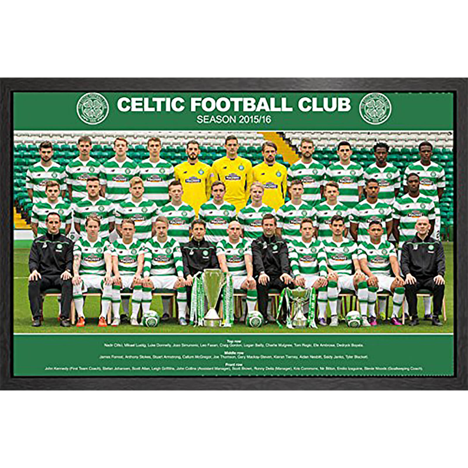 Celtic Team Photo 15/16 - 61 x 91.5cm Framed Maxi Poster