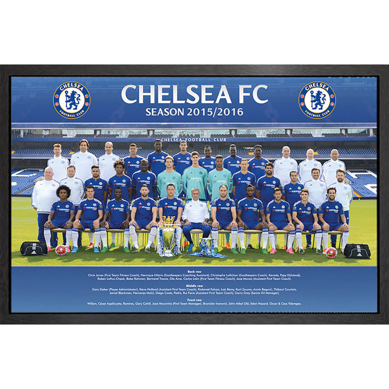 Chelsea Team Photo 15/16 - 61 x 91.5cm Framed Maxi Poster