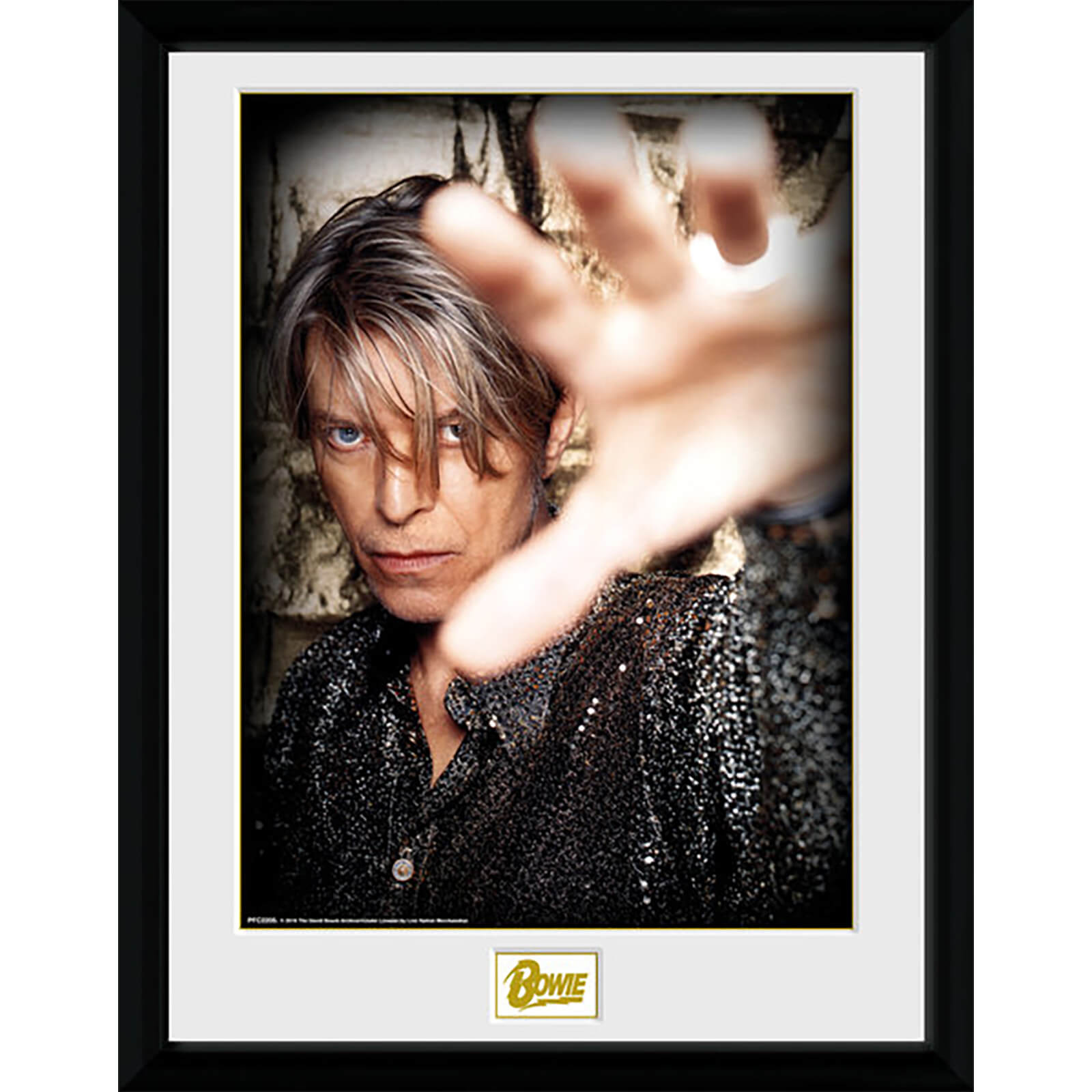 David Bowie Hand - 16 x 12 Inches Framed Photograph