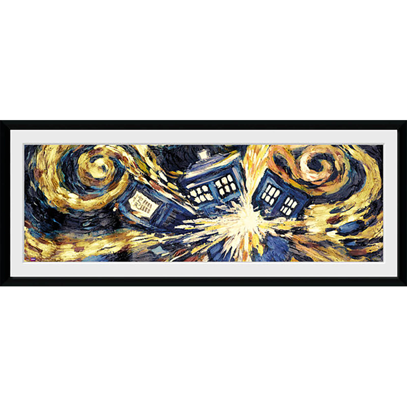 Doctor Who Exploding Tardis - 30 x 12 Inches Framed Photograph