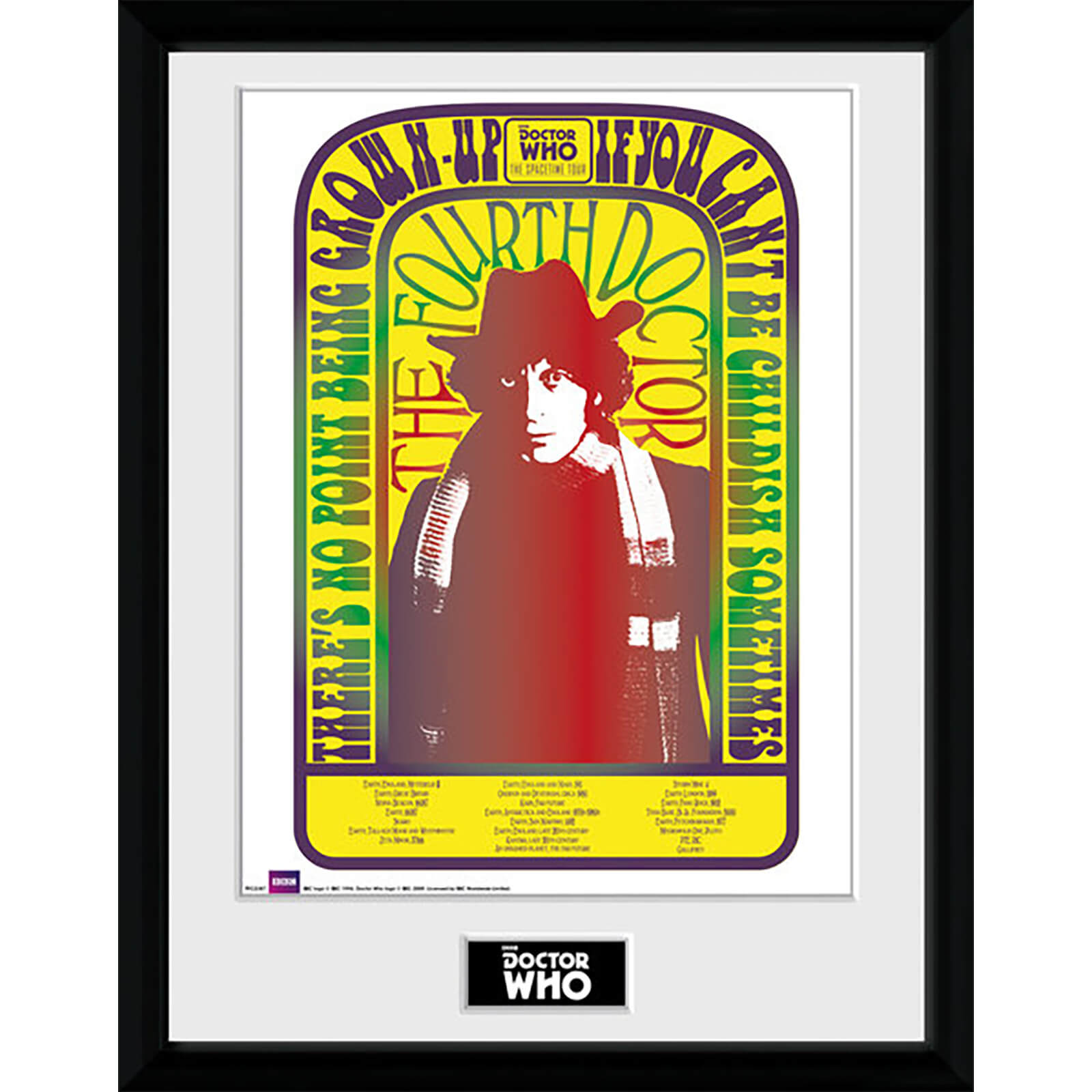 Doctor Who Spacetime Tour 4th Doctor - 16 x 12 Inches Framed Photograph
