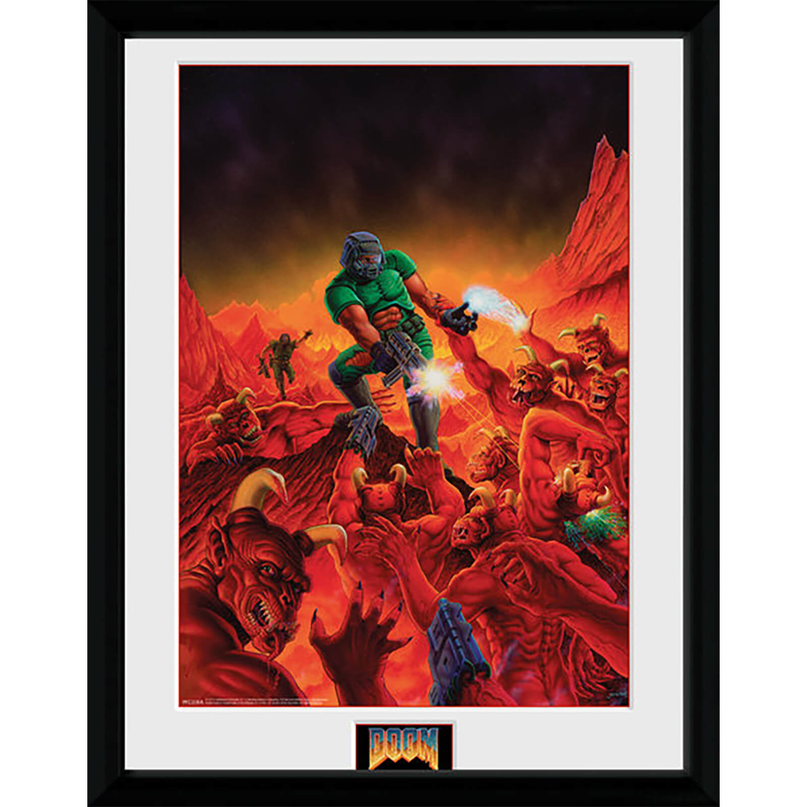 Doom Classic Key Art - 16 x 12 Inches Framed Photograph