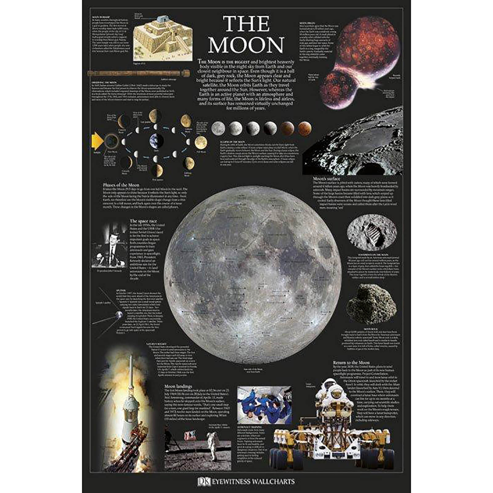 Dorling Kindersley the Moon - 61 x 91.5cm Maxi Poster