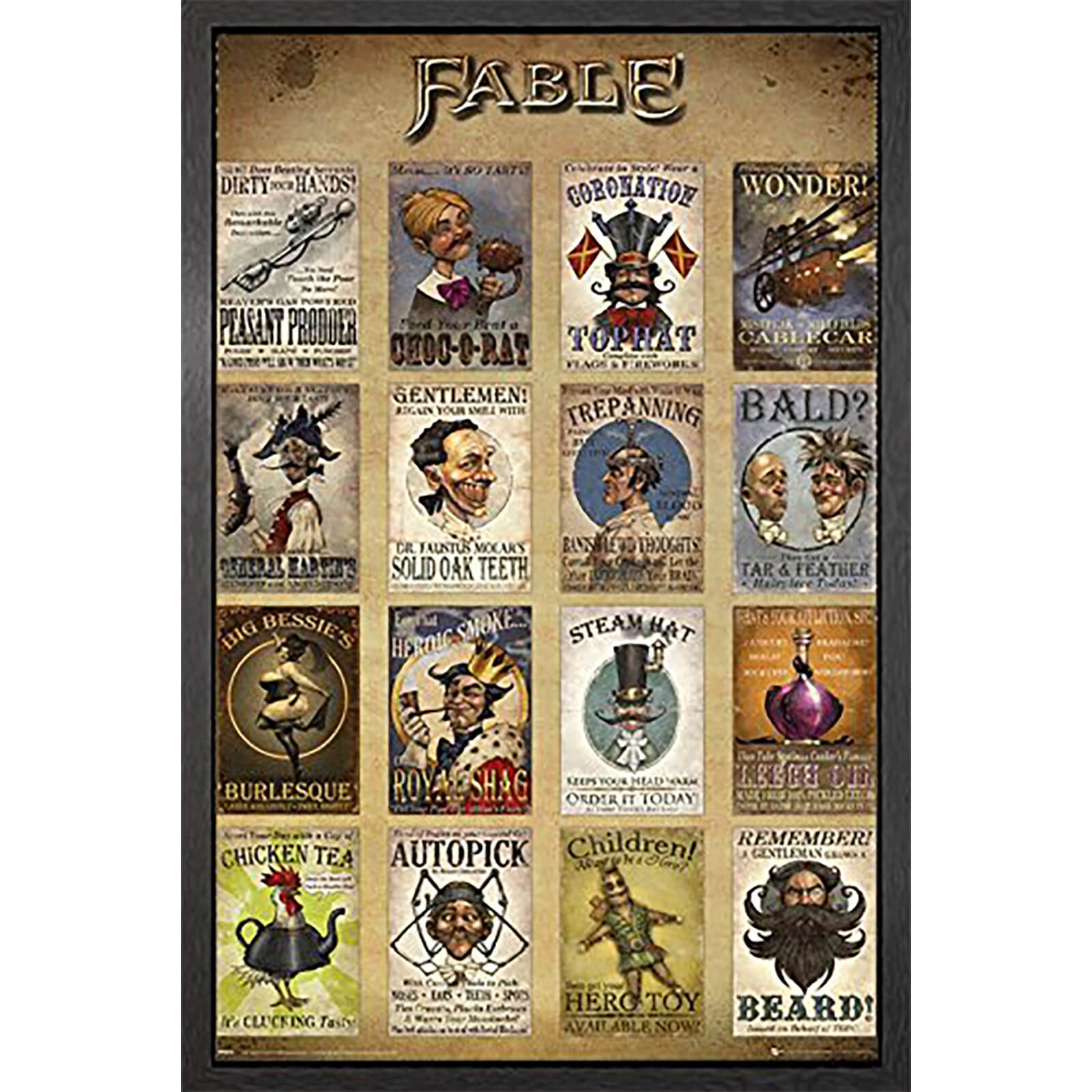 Fable Adverts - 61 x 91.5cm Framed Maxi Poster
