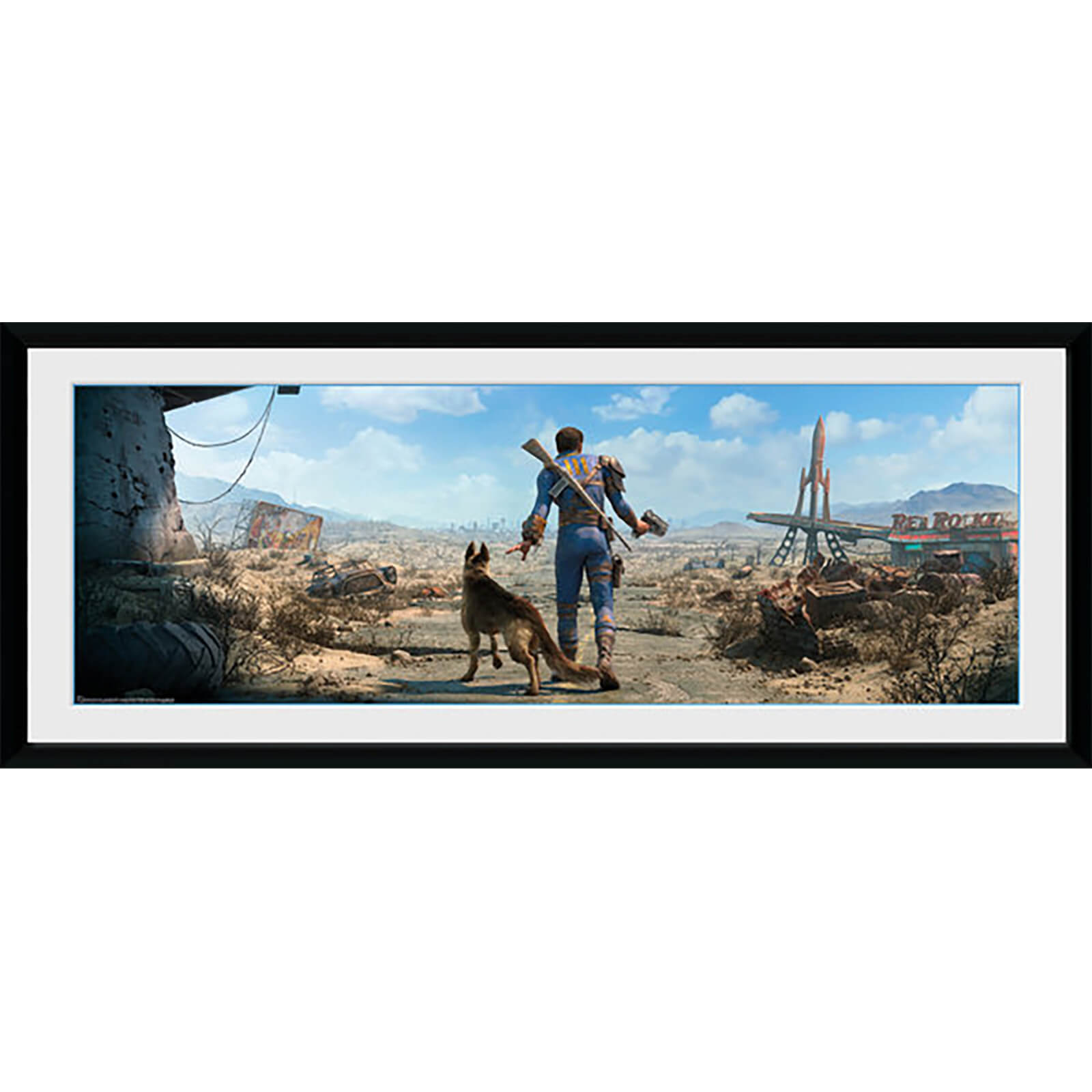 Fallout Sole Survivor Male - 30 x 12 Inches Framed Photograph