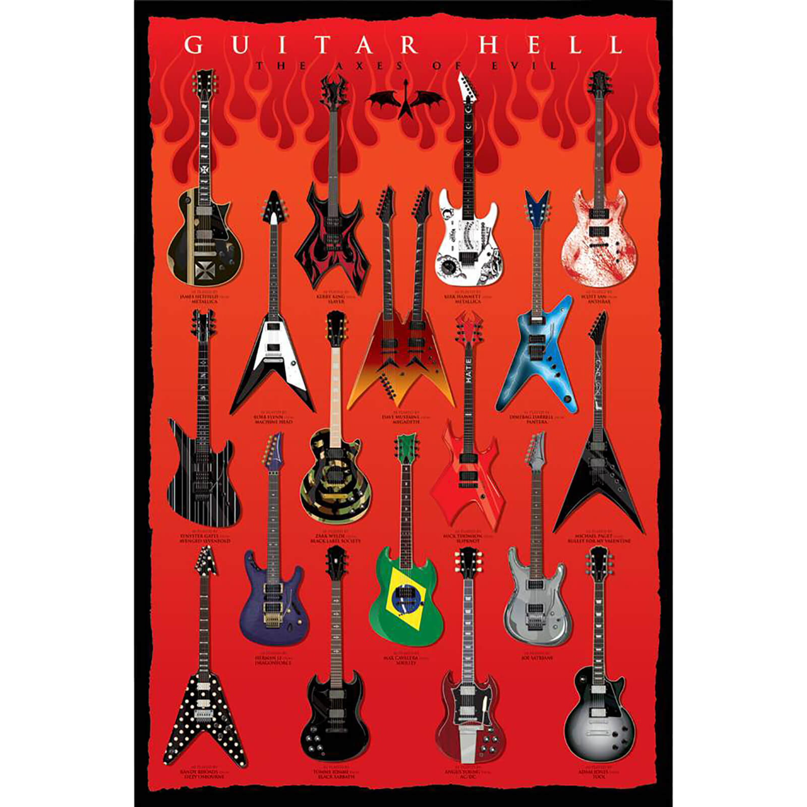 Guitar Axes of Hell - 61 x 91.5cm Maxi Poster