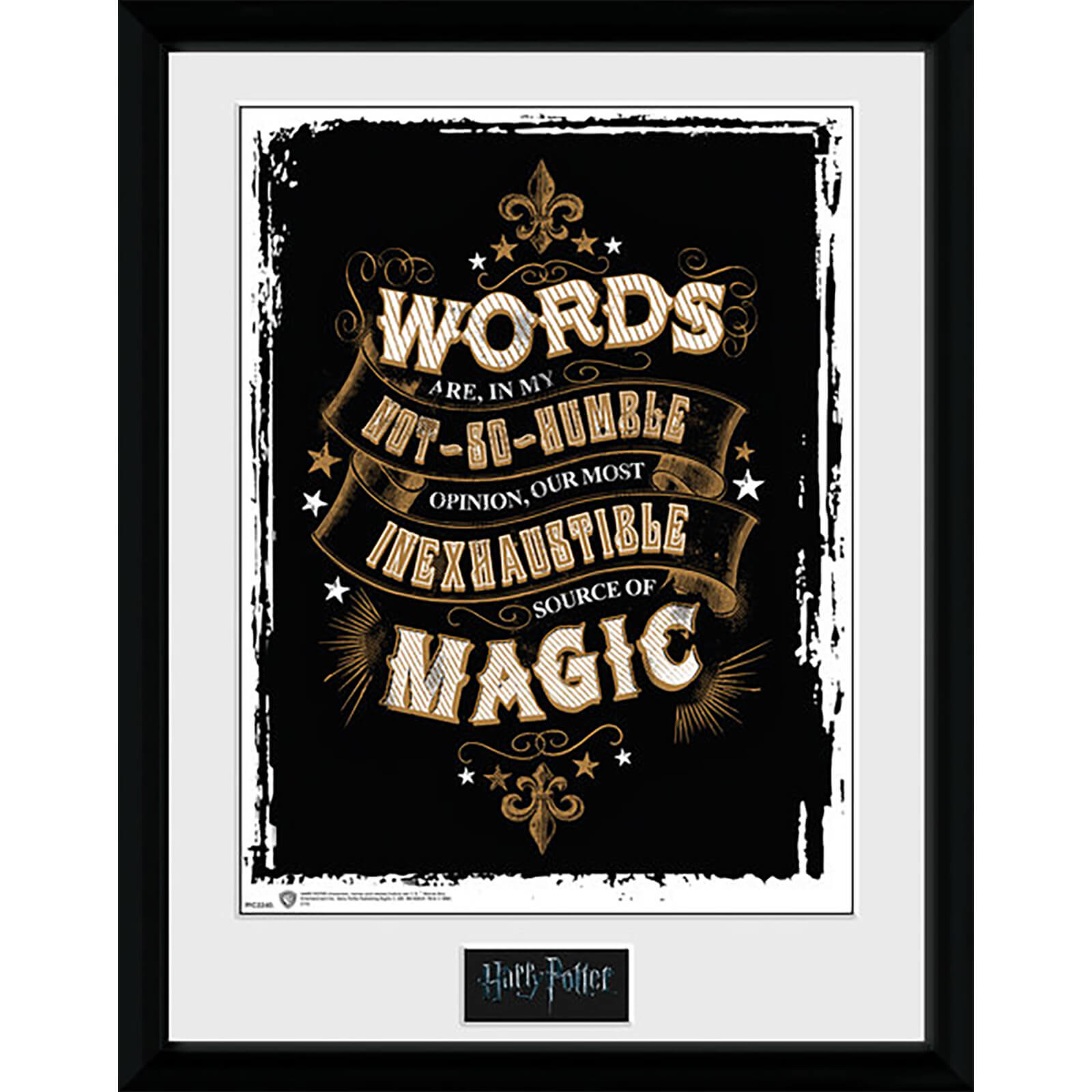 Harry Potter Words - 16 x 12 Inches Framed Photograph