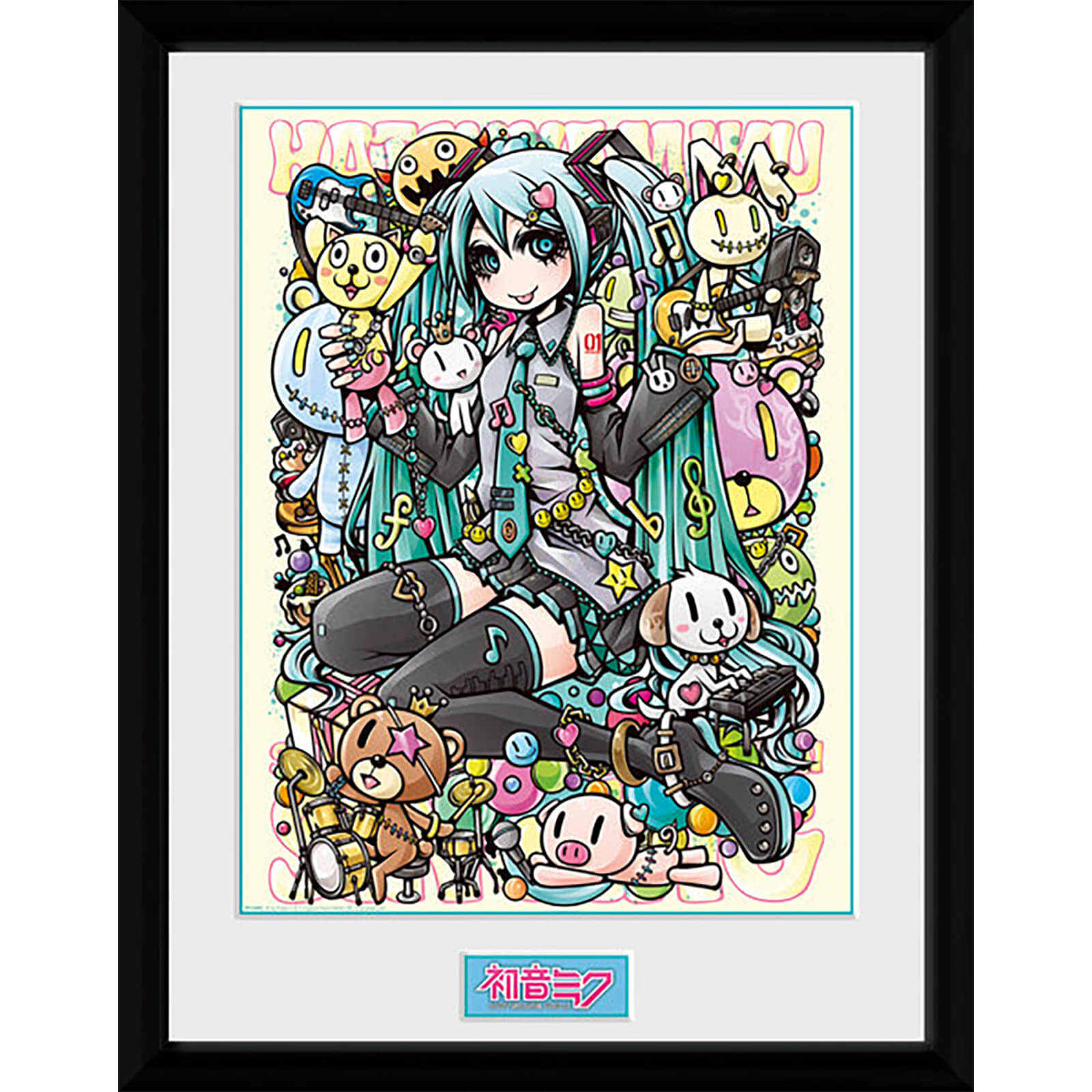 Hatsune Miku Kawaii - 16 x 12 Inches Framed Photograph
