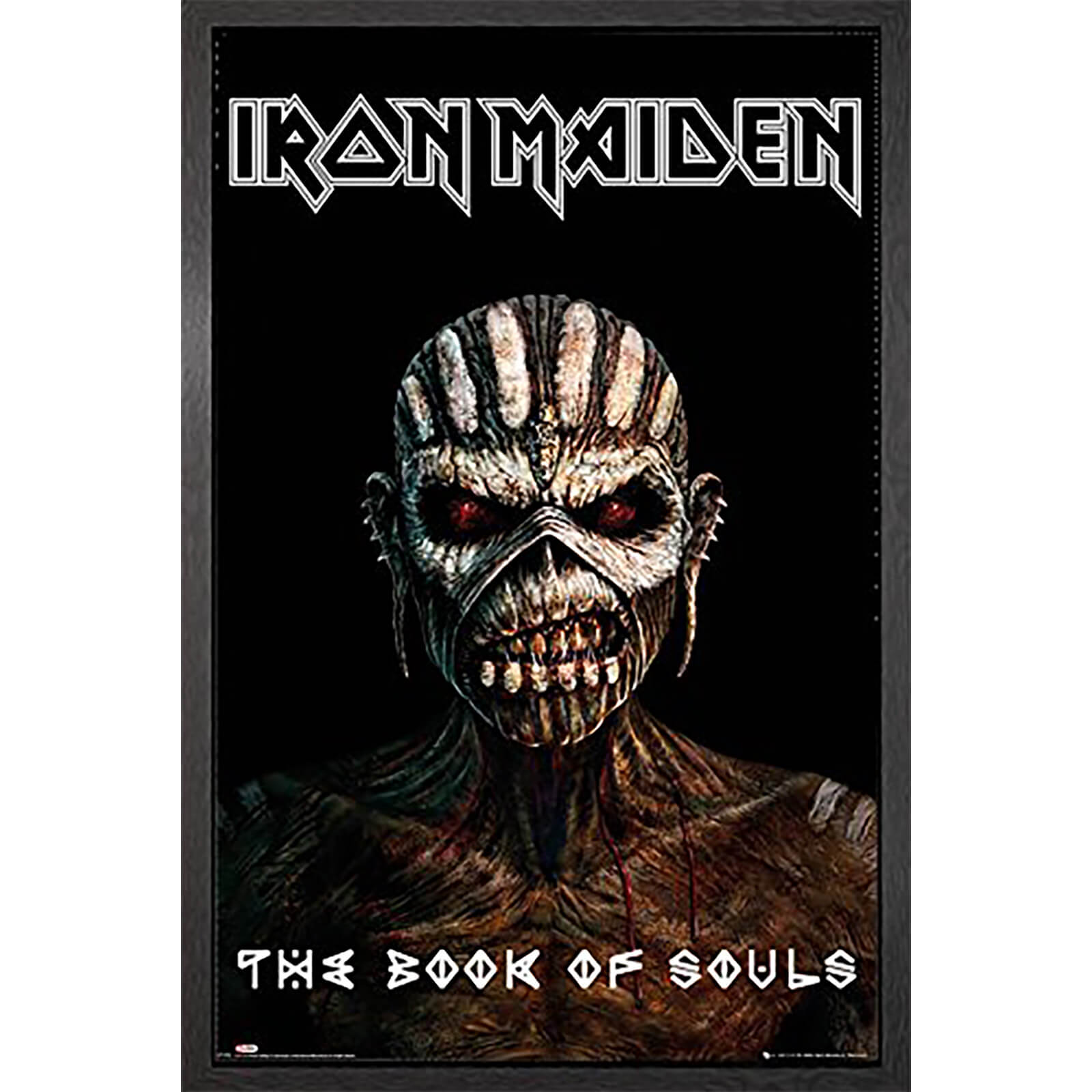 Iron Maiden the Book of Souls - 61 x 91.5cm Framed Maxi Poster