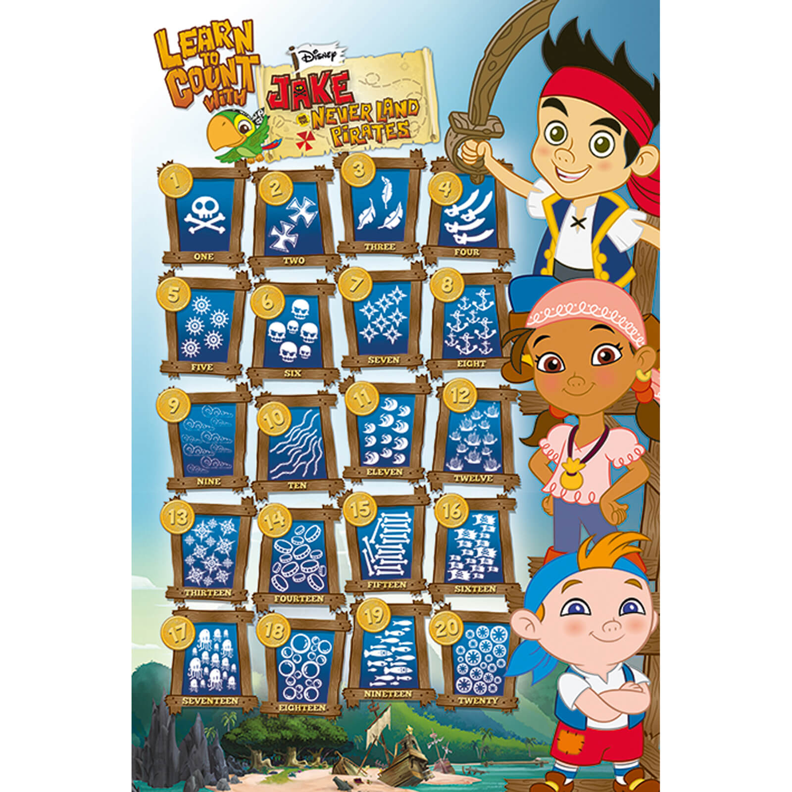 Jake and the Neverland Pirates Count - 61 x 91.5cm Maxi Poster