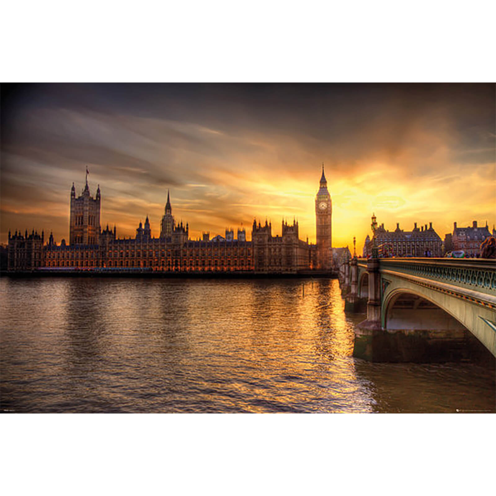 London Big Ben Parliament - 61 x 91.5cm Maxi Poster