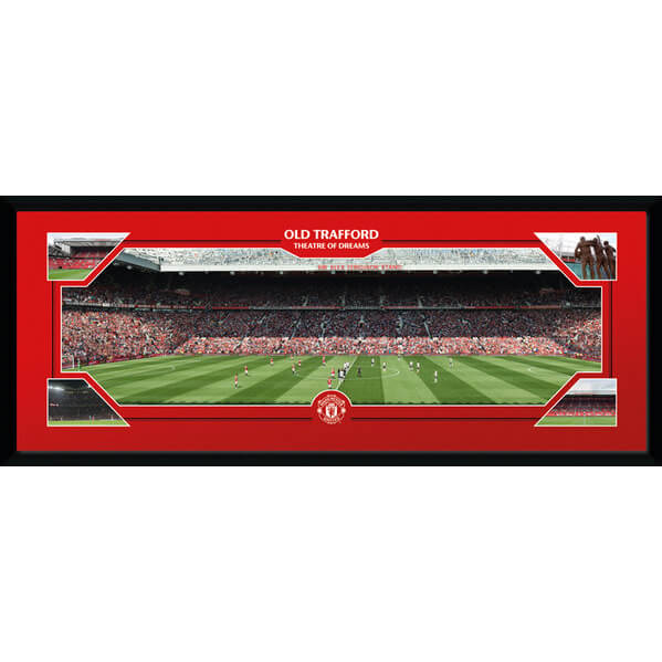 Manchester United Match Day - 30 x 12 Inches Framed Photograph