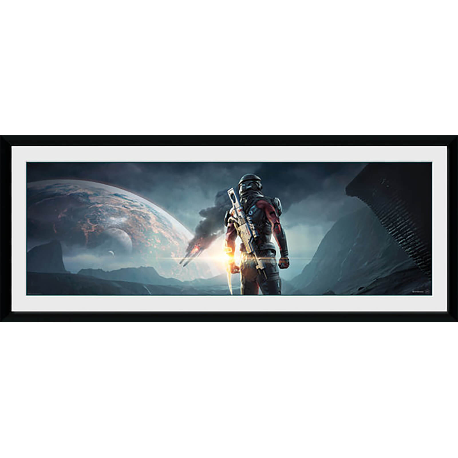 Mass Effect: Andromeda Landscape - 30 x 12 Inches Framed Photograph