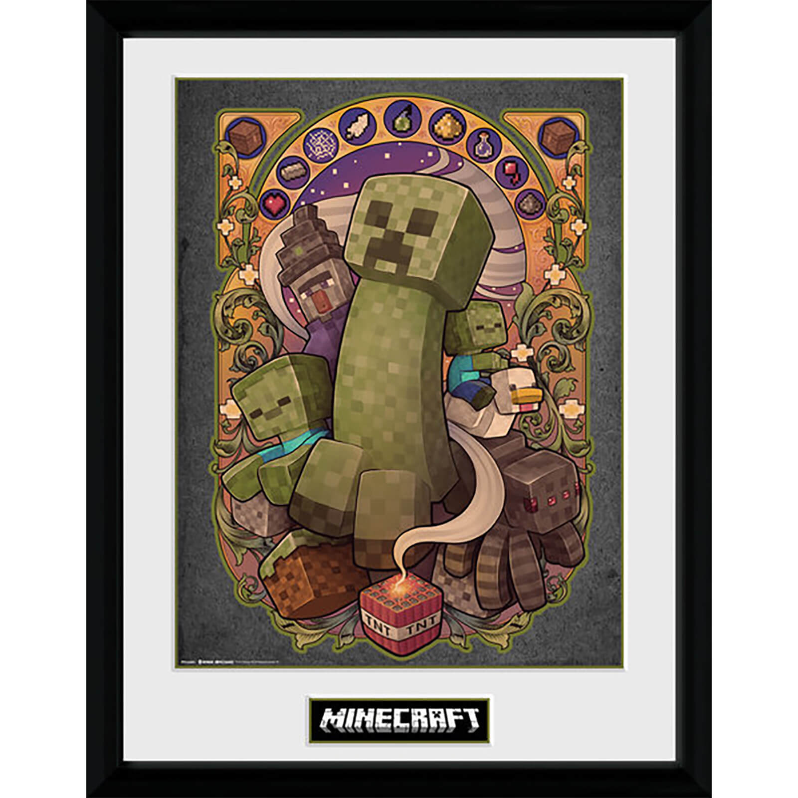 Minecraft Creeper Nouveau - 16 x 12 Inches Framed Photograph