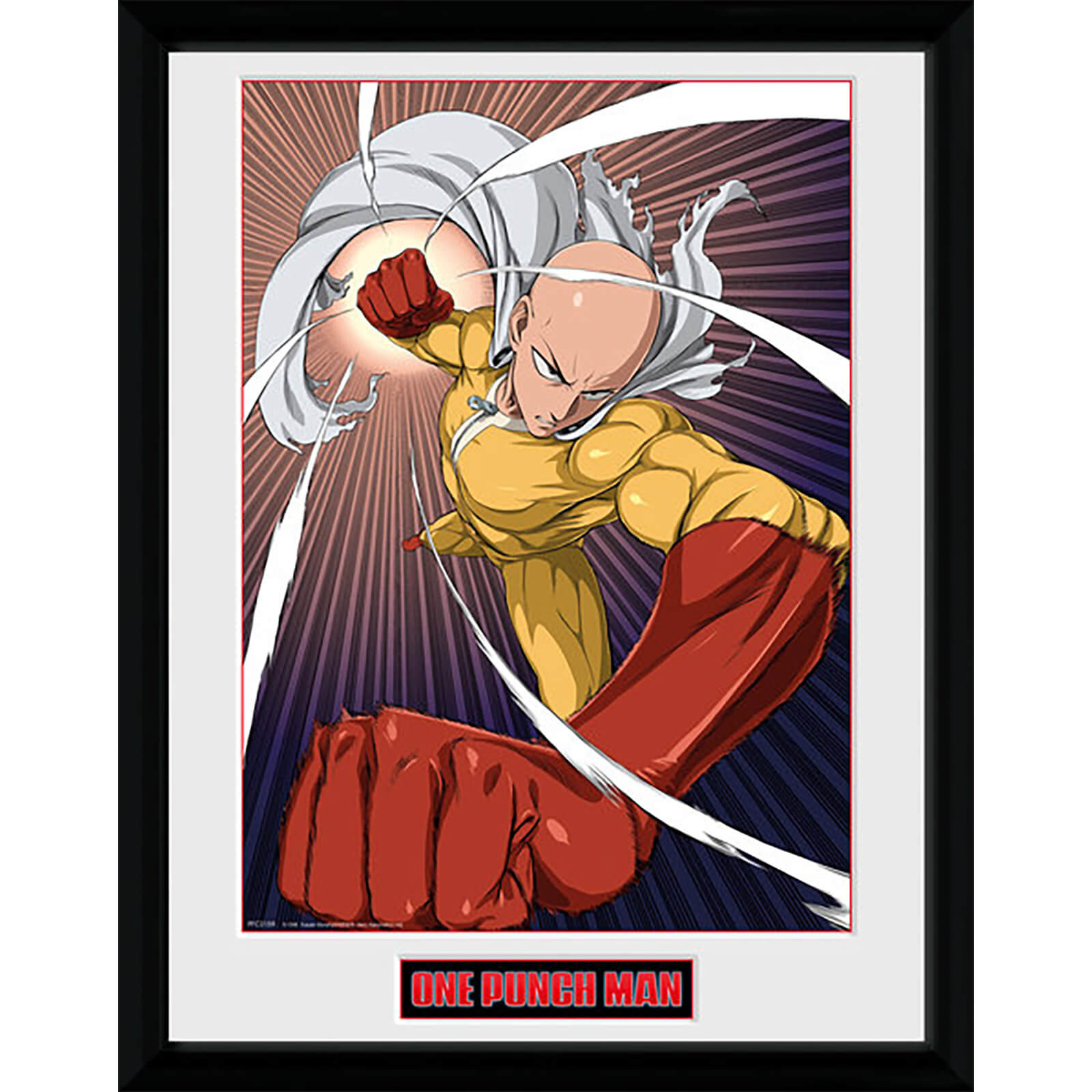 One Punch Man Speed Punch - 16 x 12 Inches Framed Photograph