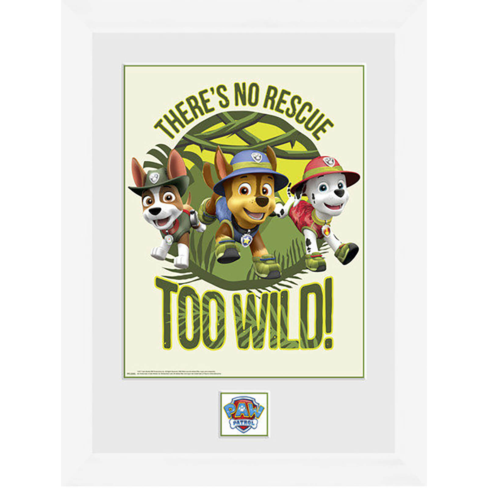 Paw Patrol No Rescue Too Wild - 16 x 12 Inches Framed Photograph