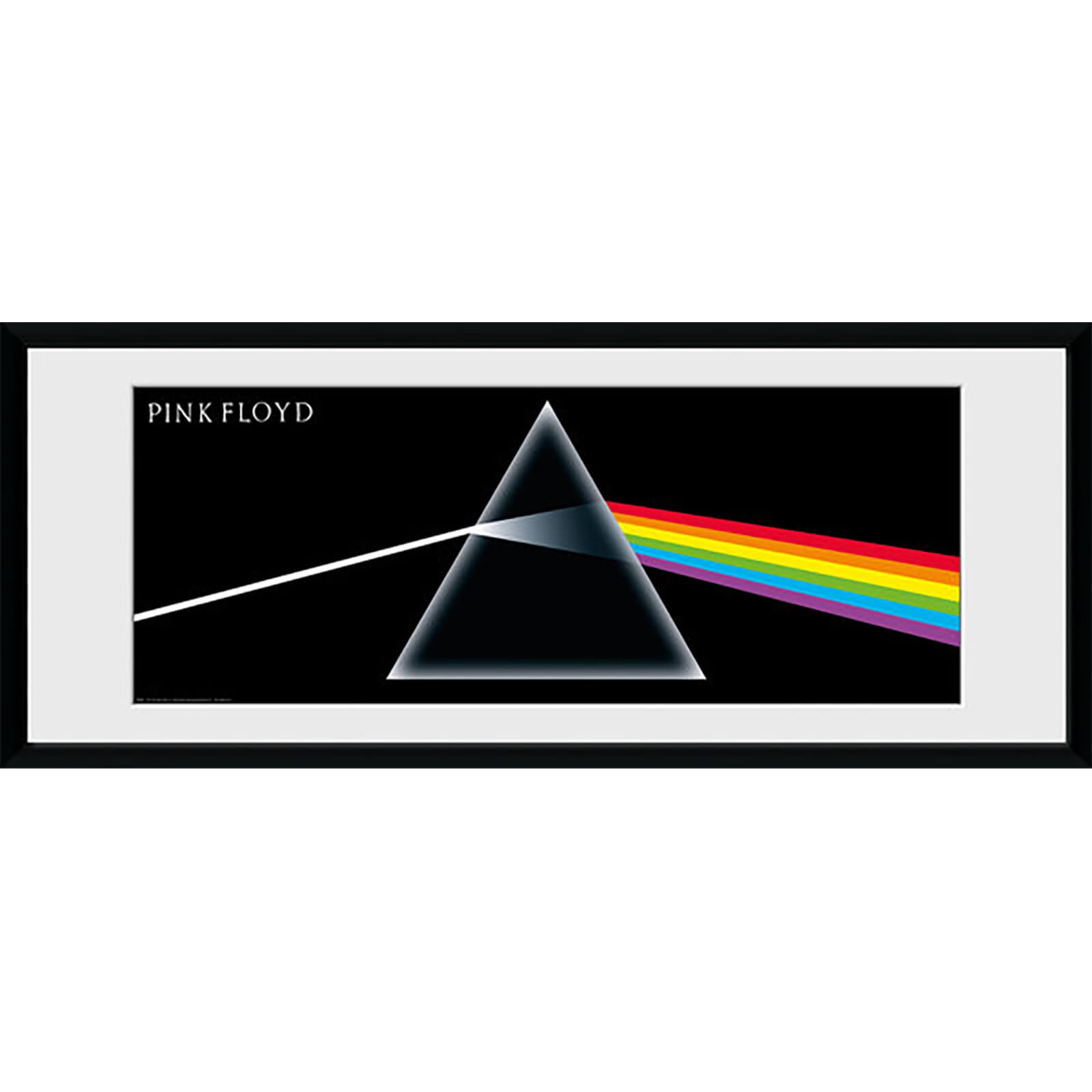 Pink Floyd Dark Side of the Moon - 30 x 12 Inches Framed Photograph