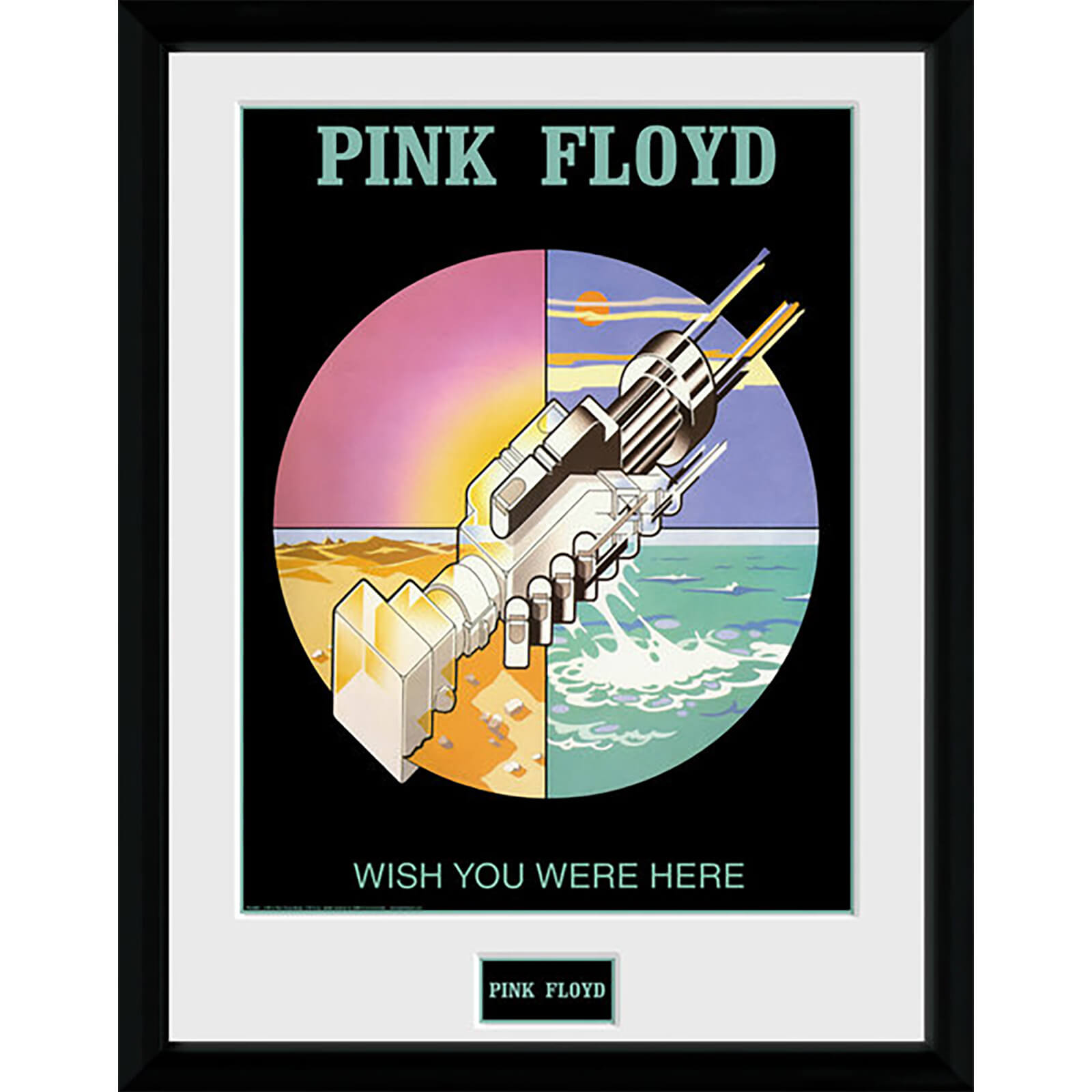 Pink Floyd Wish You Were Here 2 - 16 x 12 Inches Framed Photograph