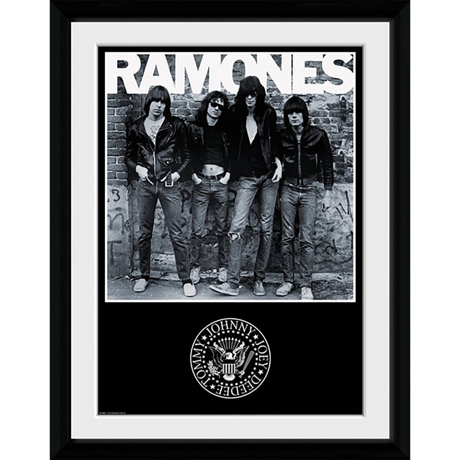 The Ramones Album - 16 x 12 Inches Framed Photograph