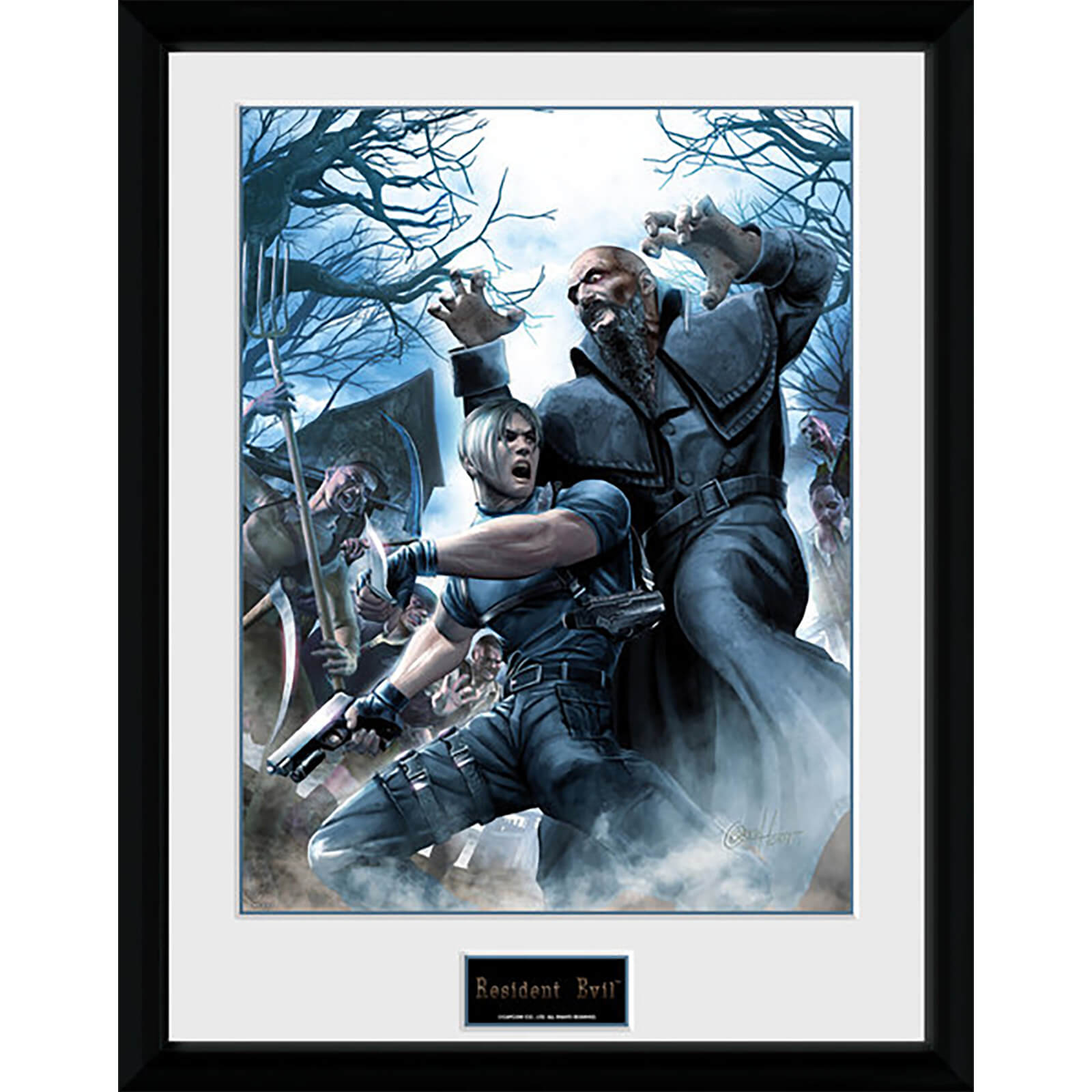 Resident Evil Leon - 16 x 12 Inches Framed Photograph