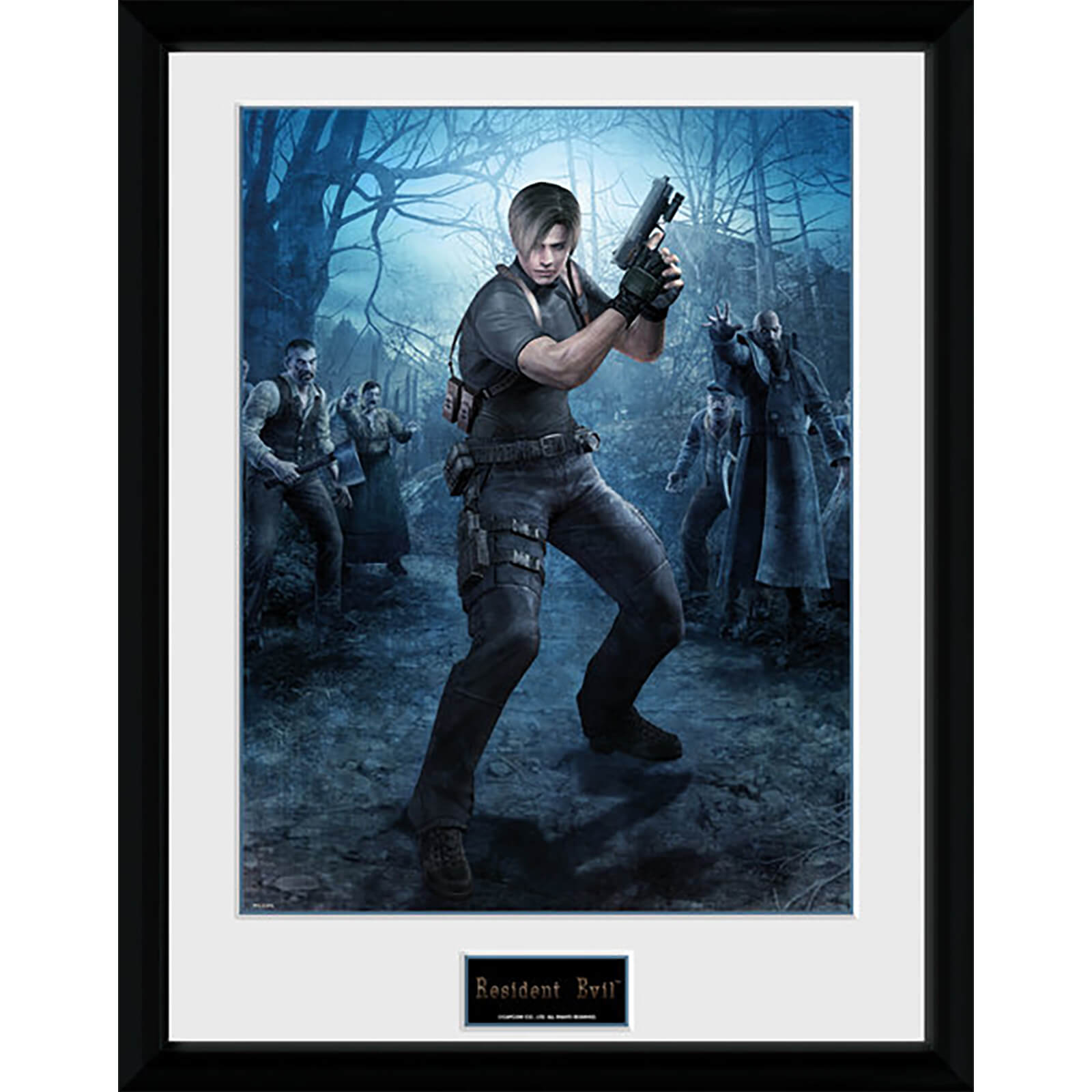 Resident Evil Leon Gun - 16 x 12 Inches Framed Photograph