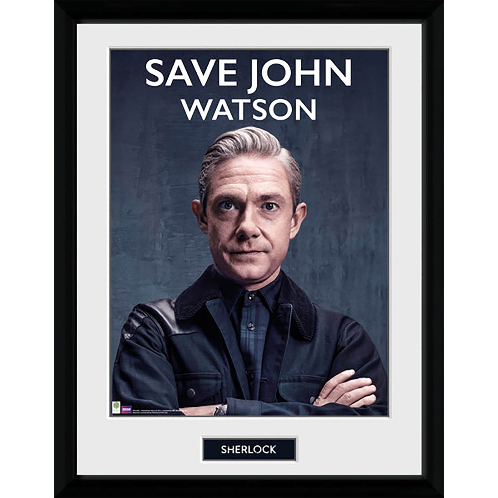 Sherlock Save John Watson - 16 x 12 Inches Framed Photograph