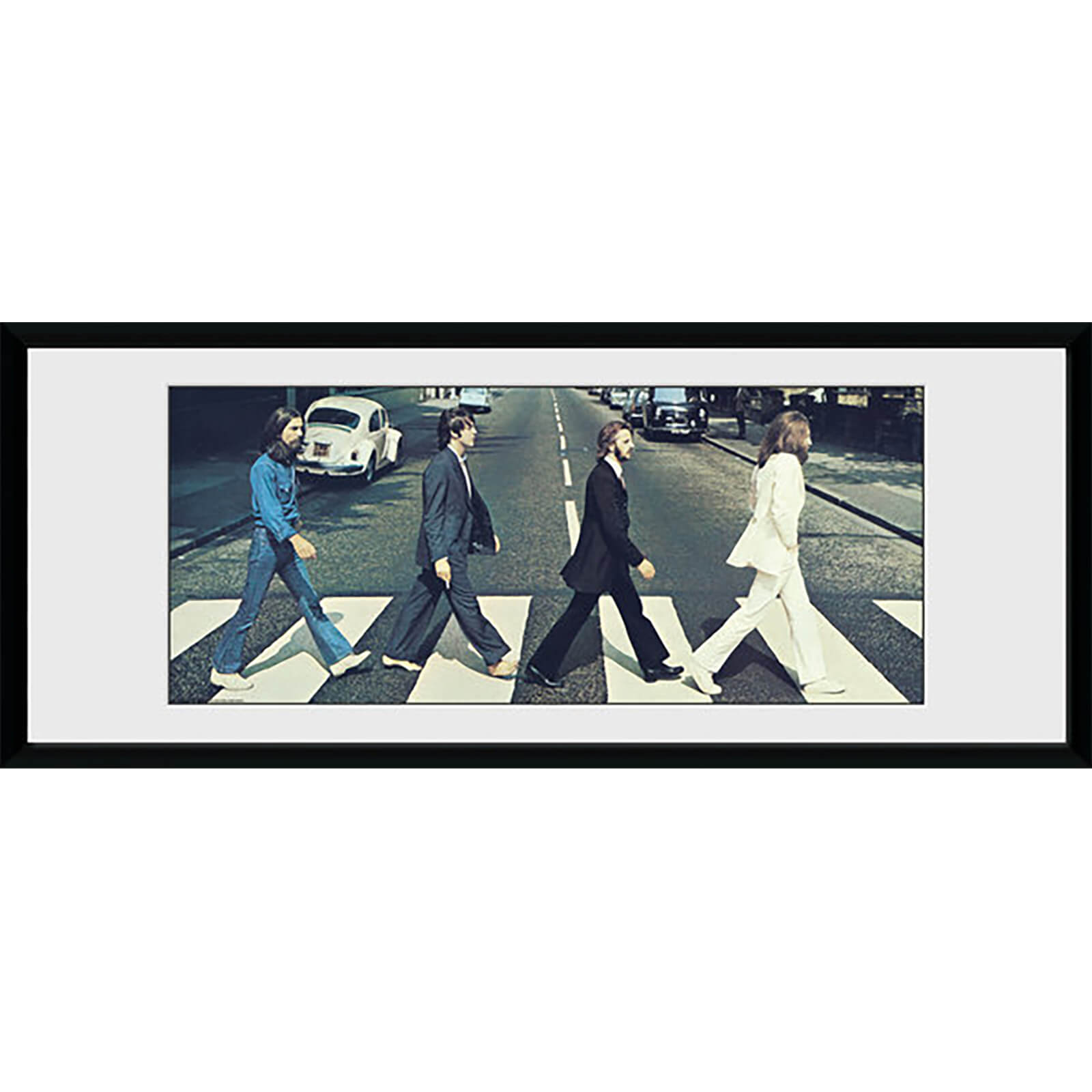 The Beatles Abbey Road Tracks - 30 x 12 Inches Framed Photograph