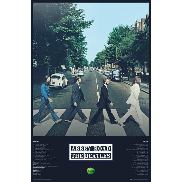 The Beatles Abbey Road Tracks - 61 x 91.5cm Maxi Poster