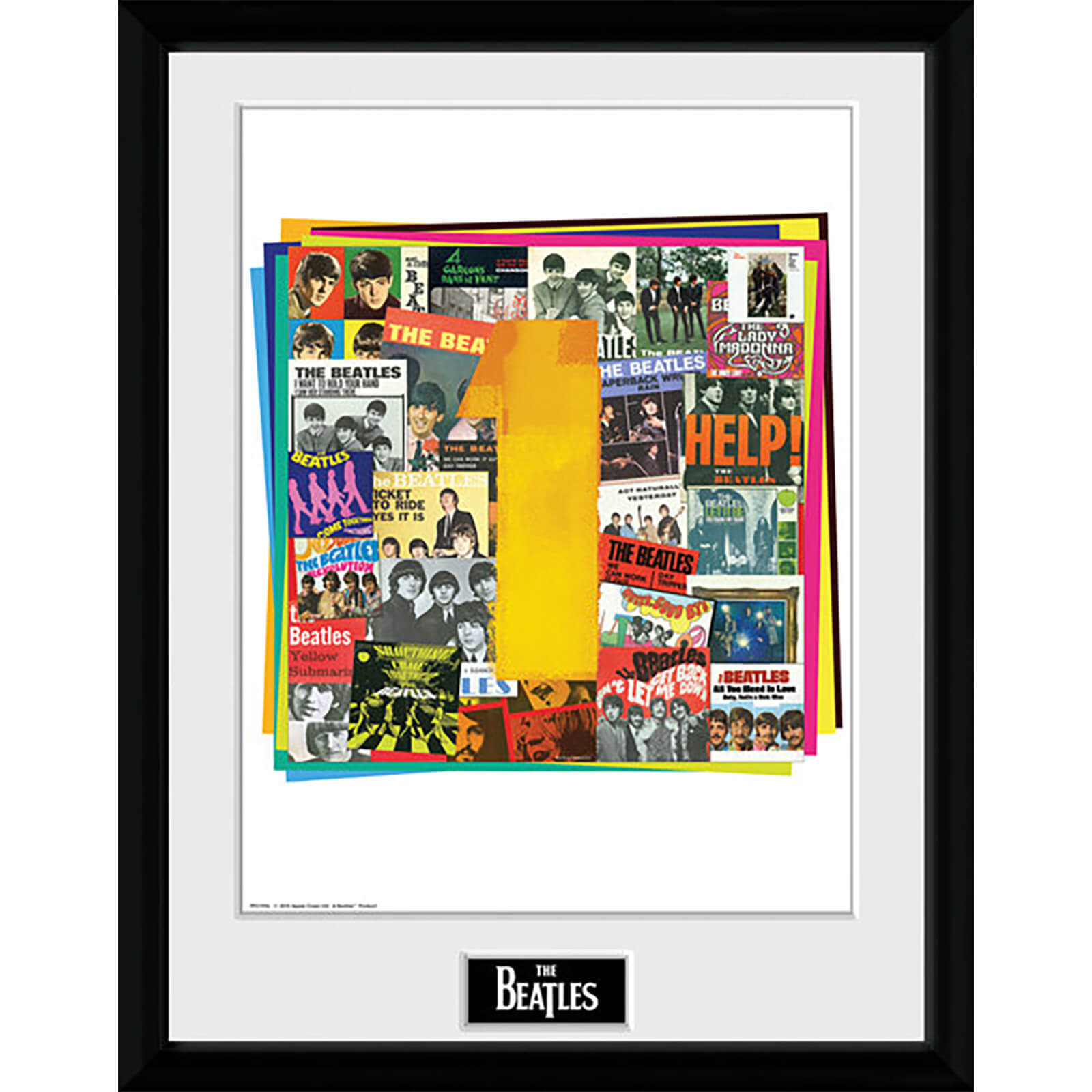 The Beatles No. 1 Albums - 16 x 12 Inches Framed Photograph