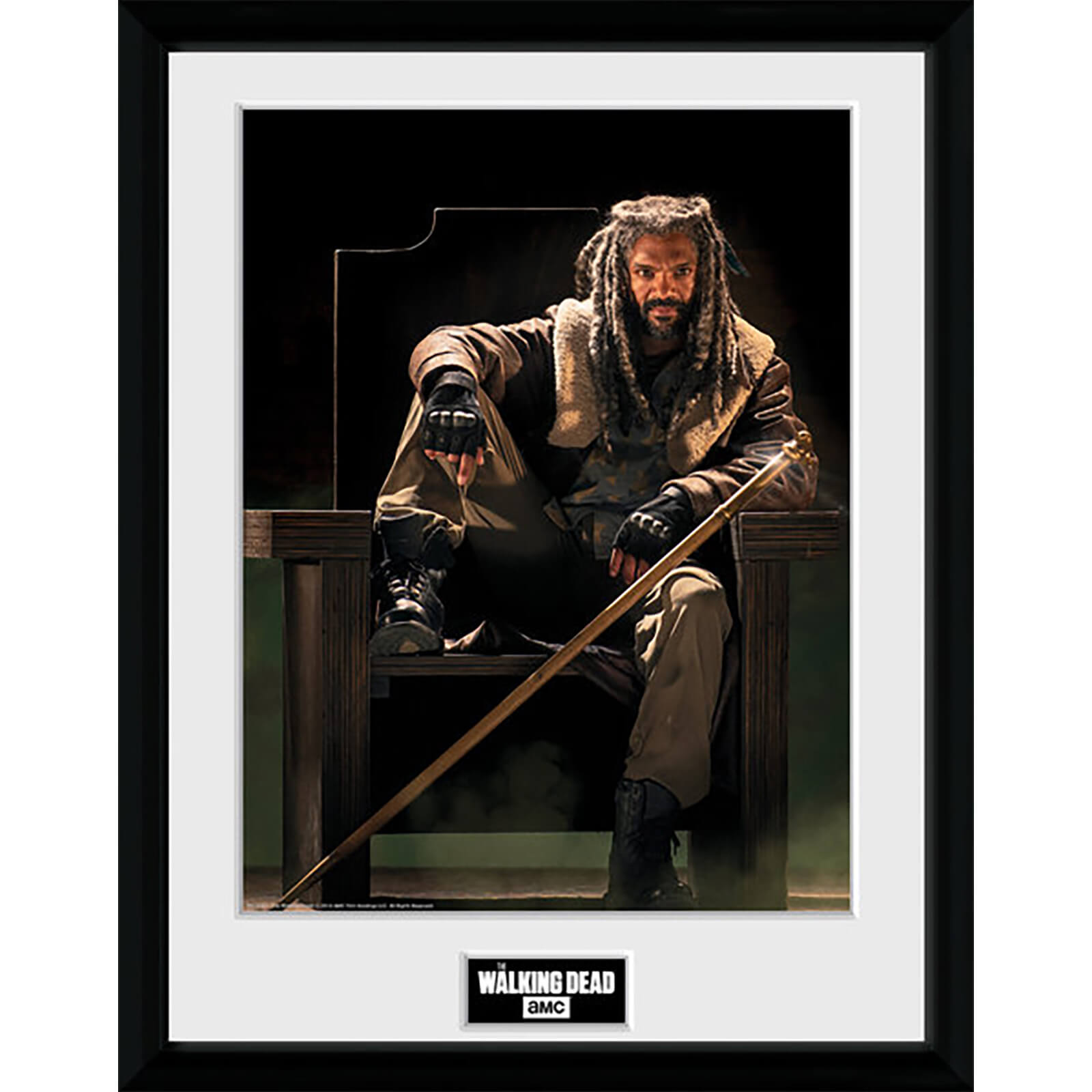 The Walking Dead Ezekial 16 X 12 Inches Framed Photograph