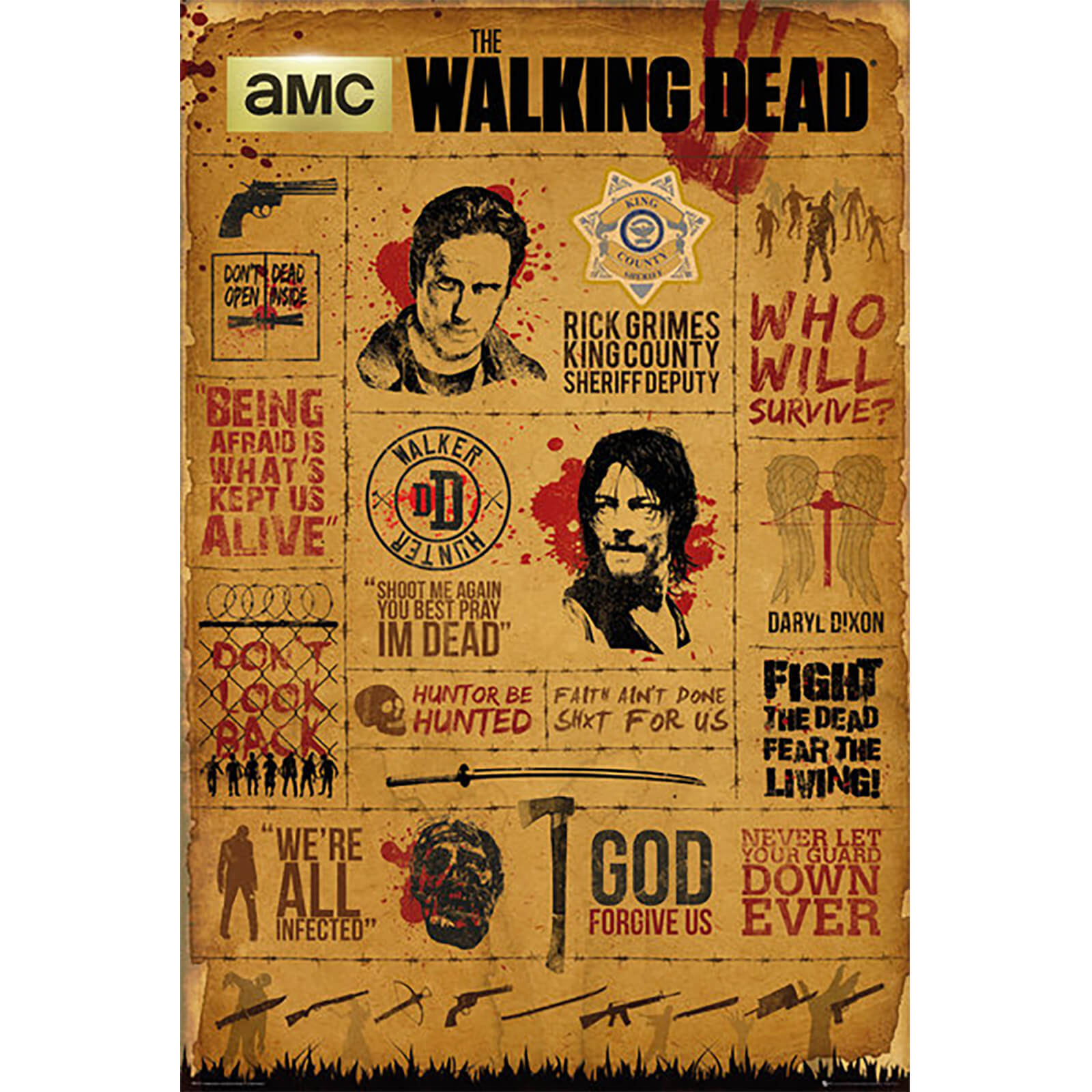 The Walking Dead Infographic - 61 x 91.5cm Maxi Poster