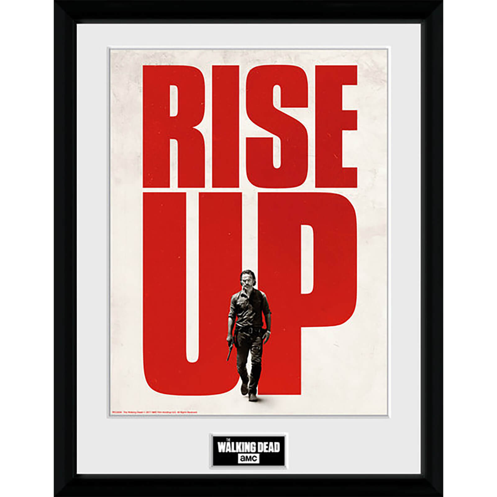 The Walking Dead Rise Up - 16 x 12 Inches Framed Photograph