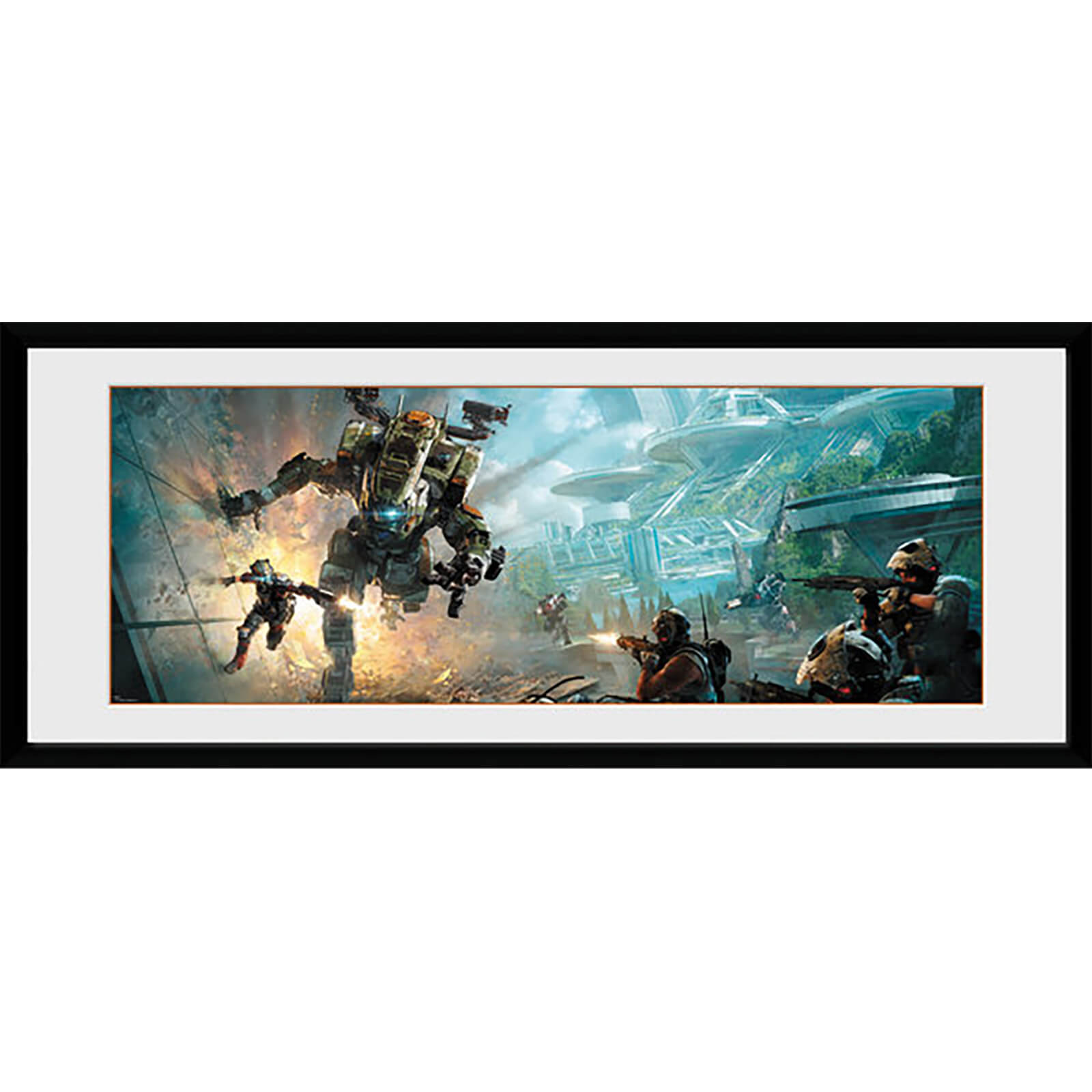 Titanfall 2 Key Art - 30 x 12 Inches Framed Photograph