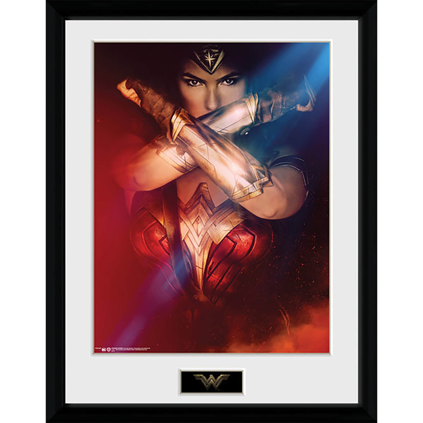 Wonder Woman Cross - 16 x 12 Inches Framed Photograph