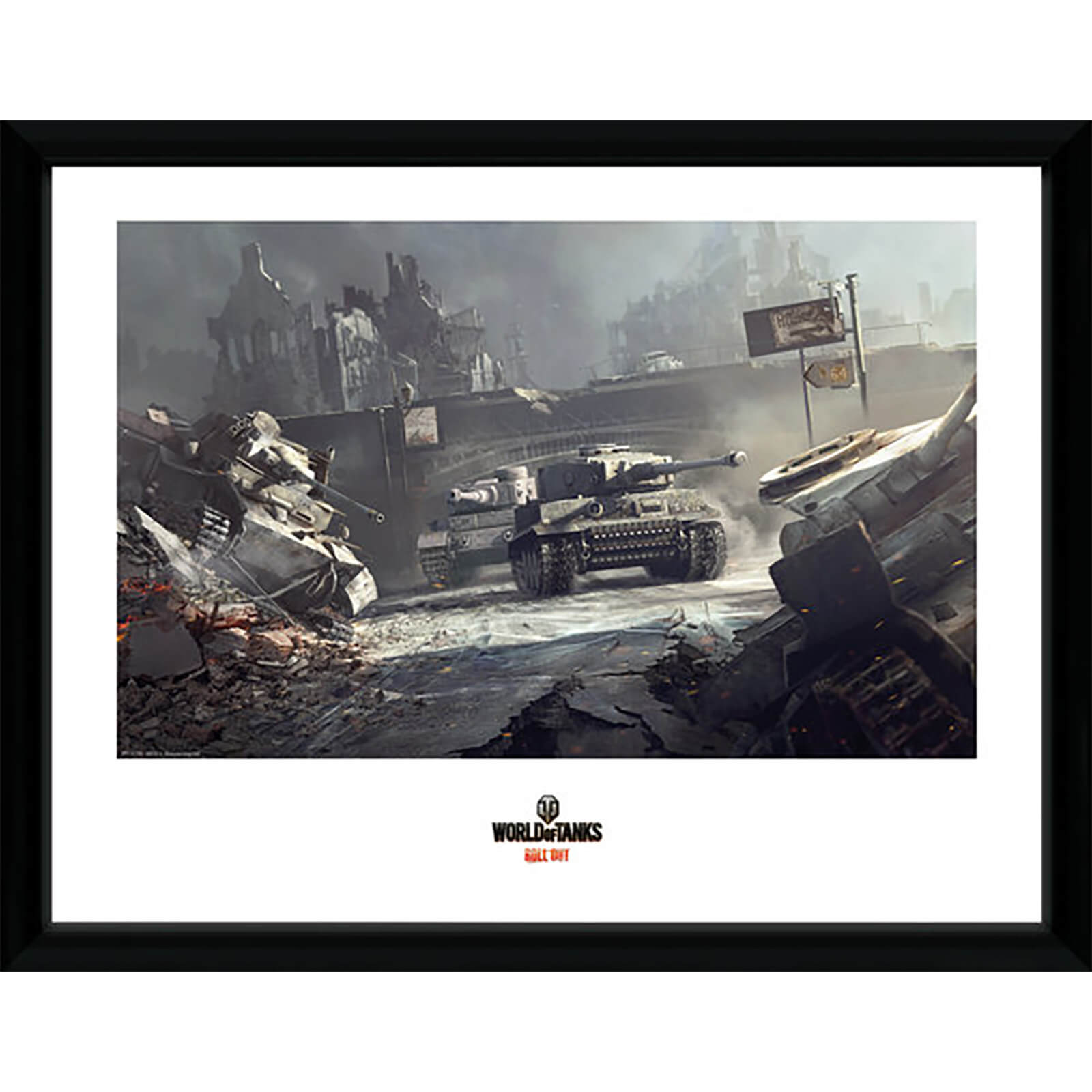 World of Tanks German Tank - 16 x 12 Inches Framed Photograph